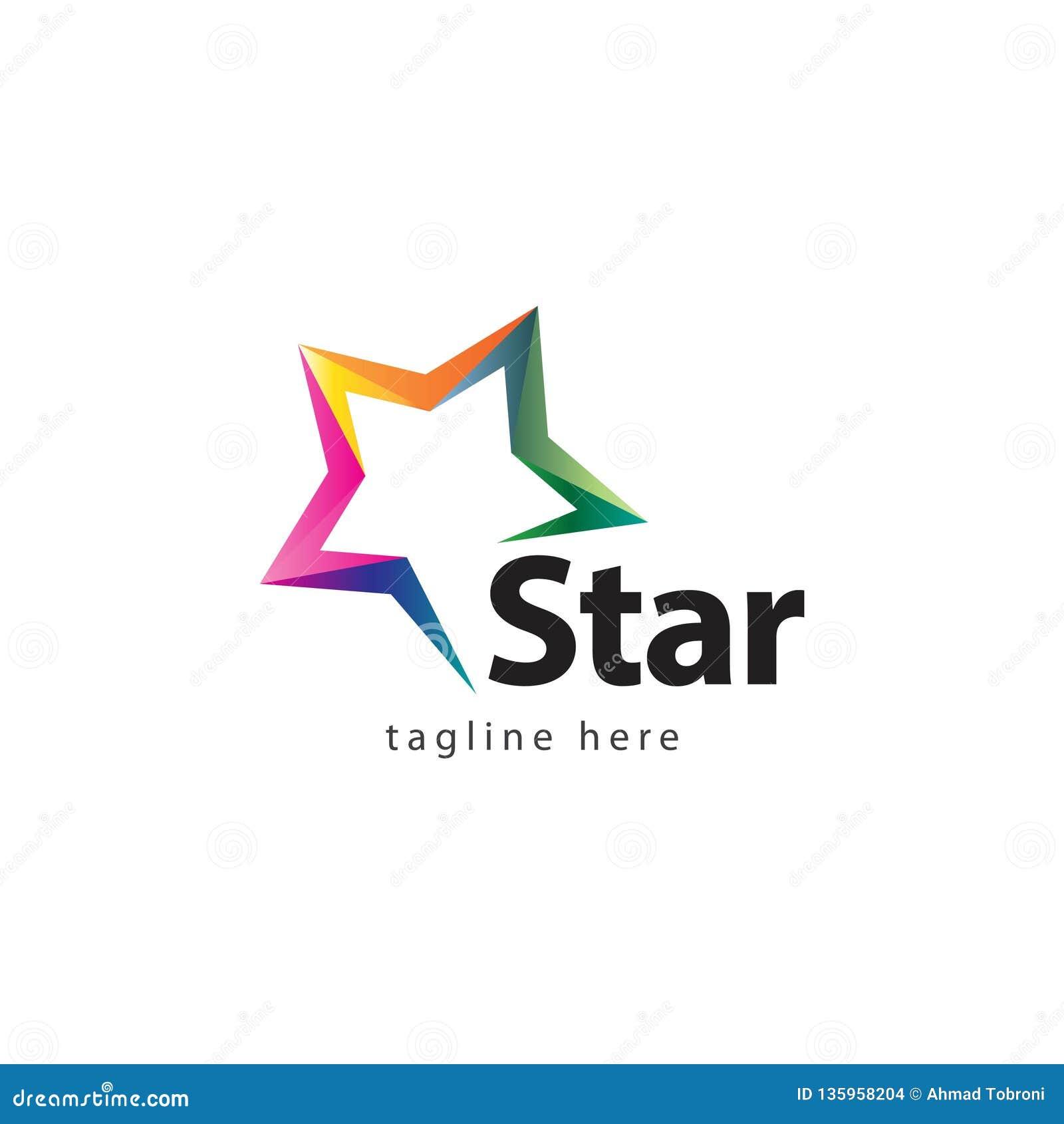 Star Company Logo Vector Design Illustration