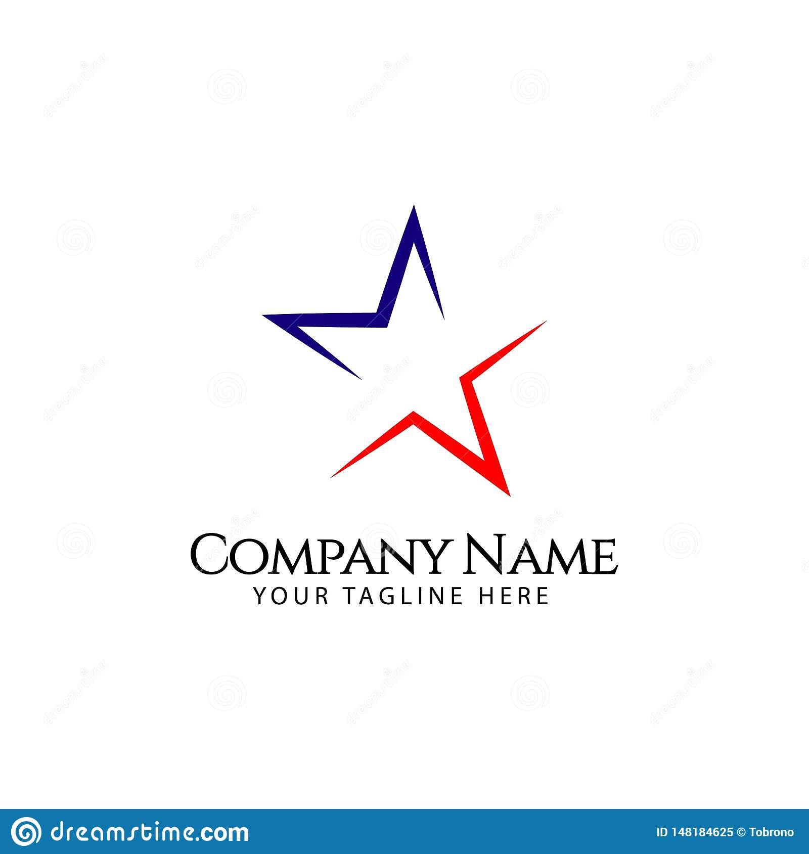 Star Company Logo Vector Template Design Illustration