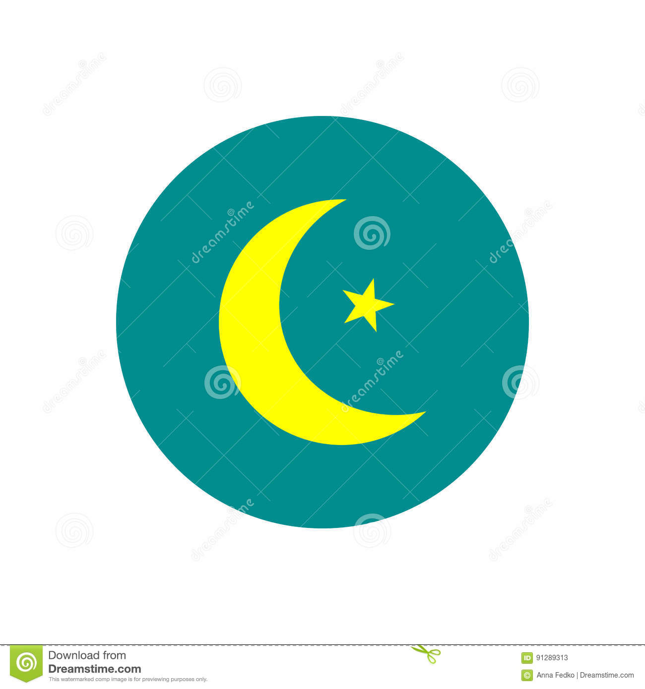 Star and crescent symbol of islam flat icon for apps and star and crescent symbol of islam flat icon for apps and websites buycottarizona Gallery