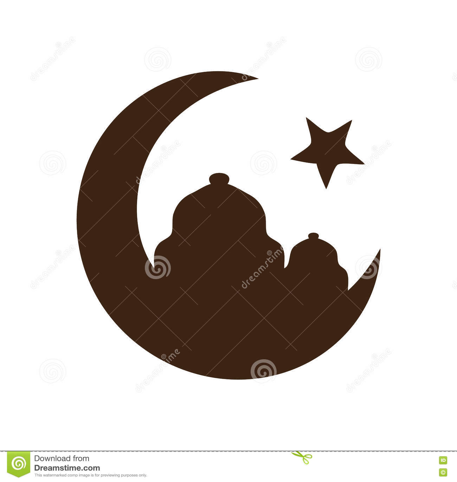 Crescent Moon, Symbol Of Islam Stock Photo - Image: 39749701