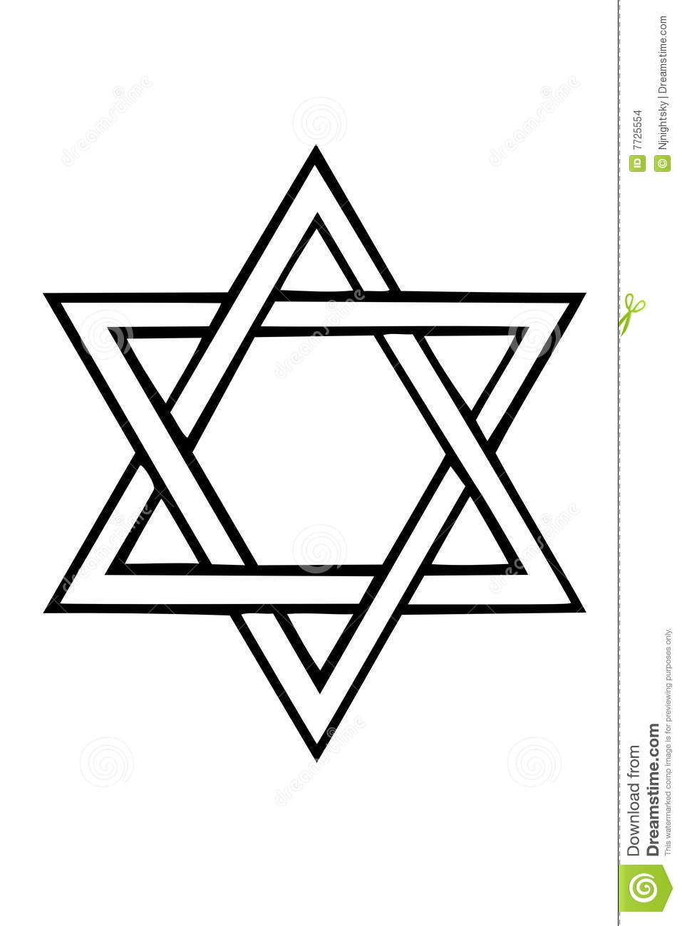 Star Of David Stock Vector Illustration Of Judaism Hebrew 7725554