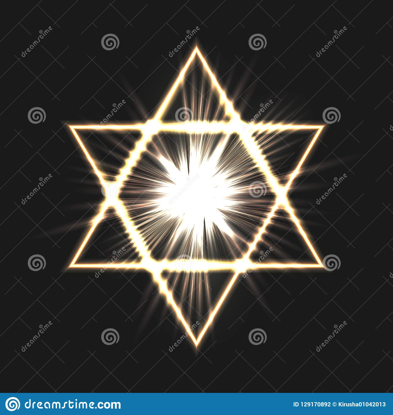 Star of David on a dark background.
