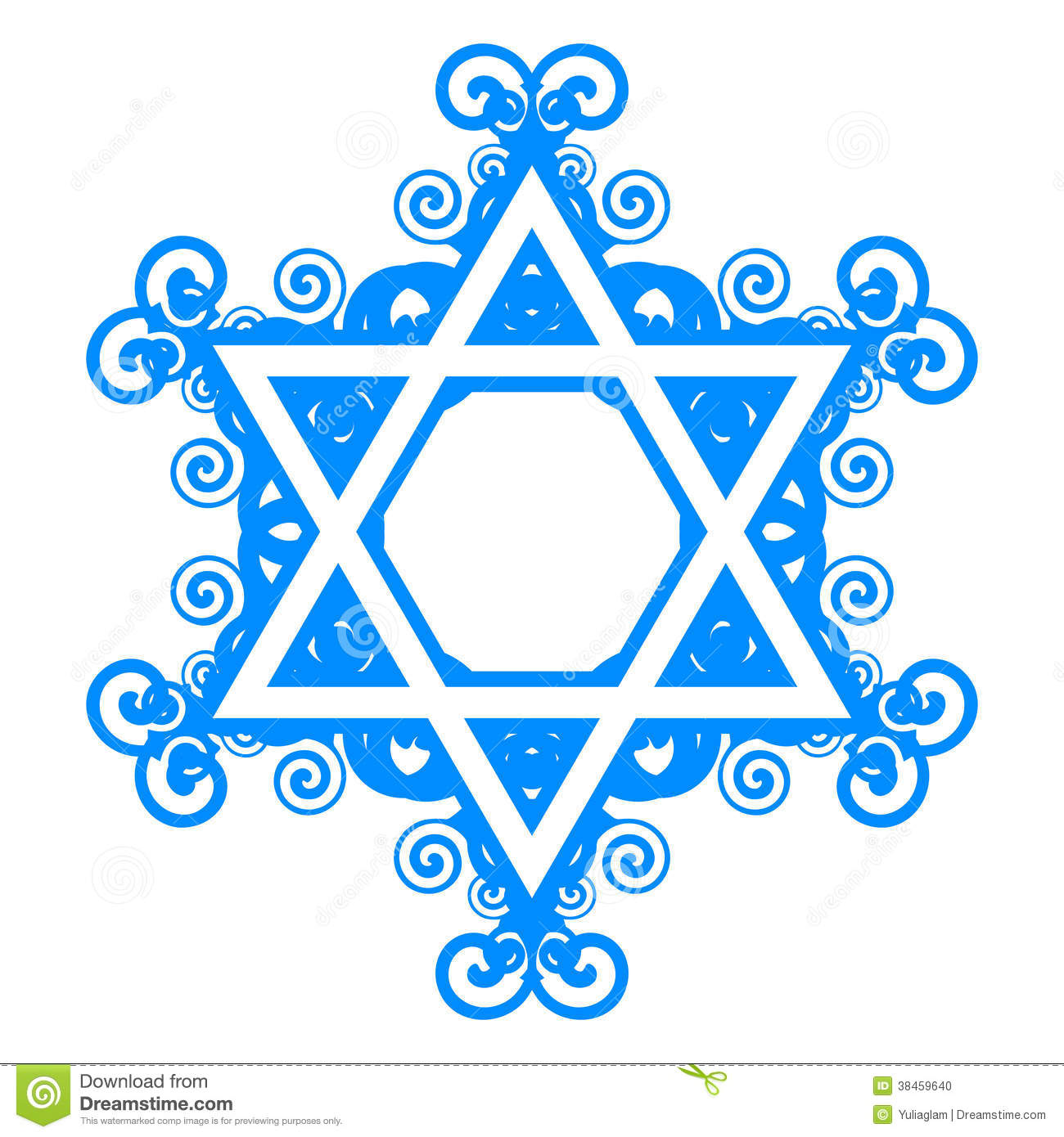 Star of David with floral decorations