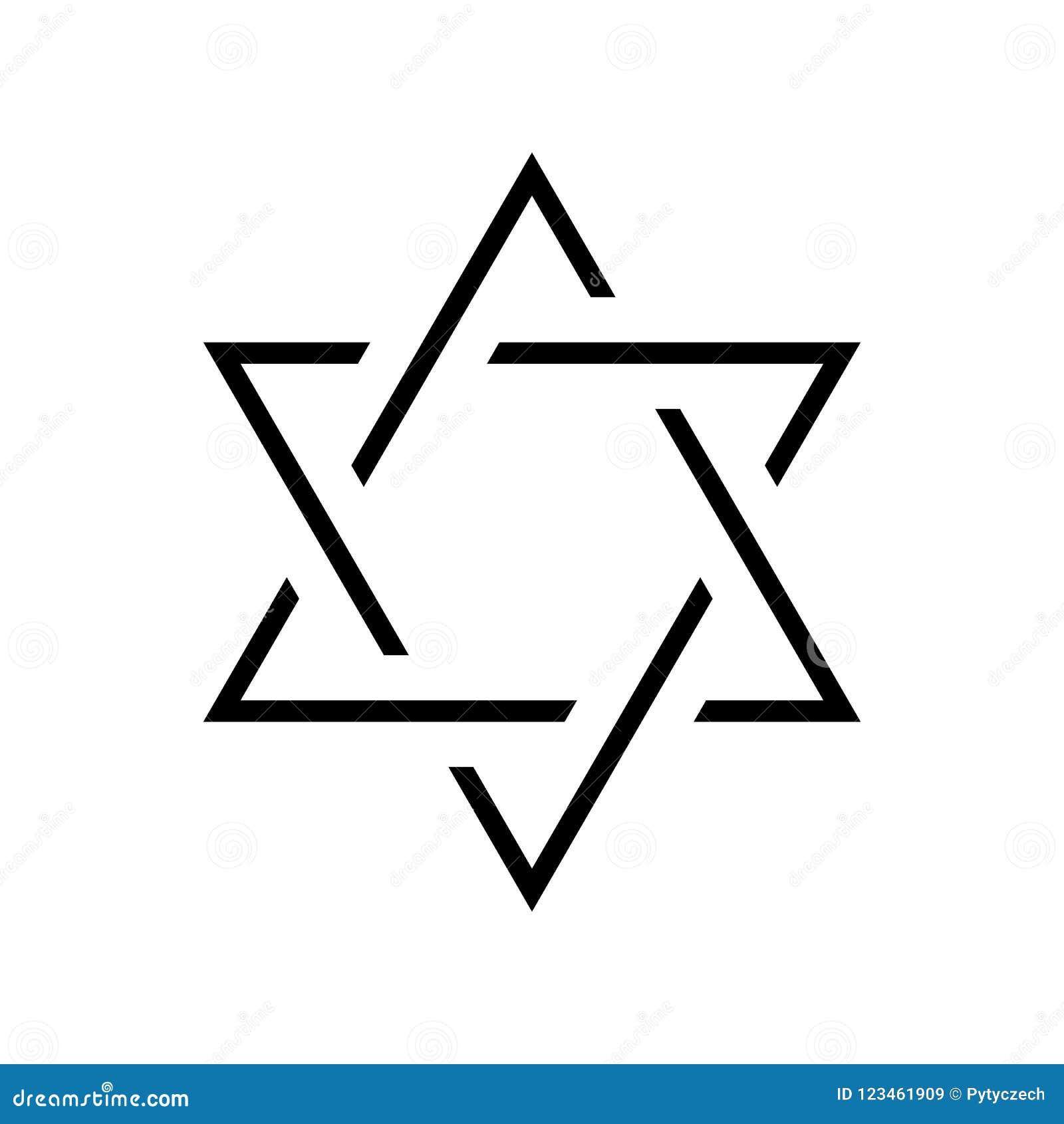 Star Of David Hexagram Sign Symbol Of Jewish Identity And Judaism