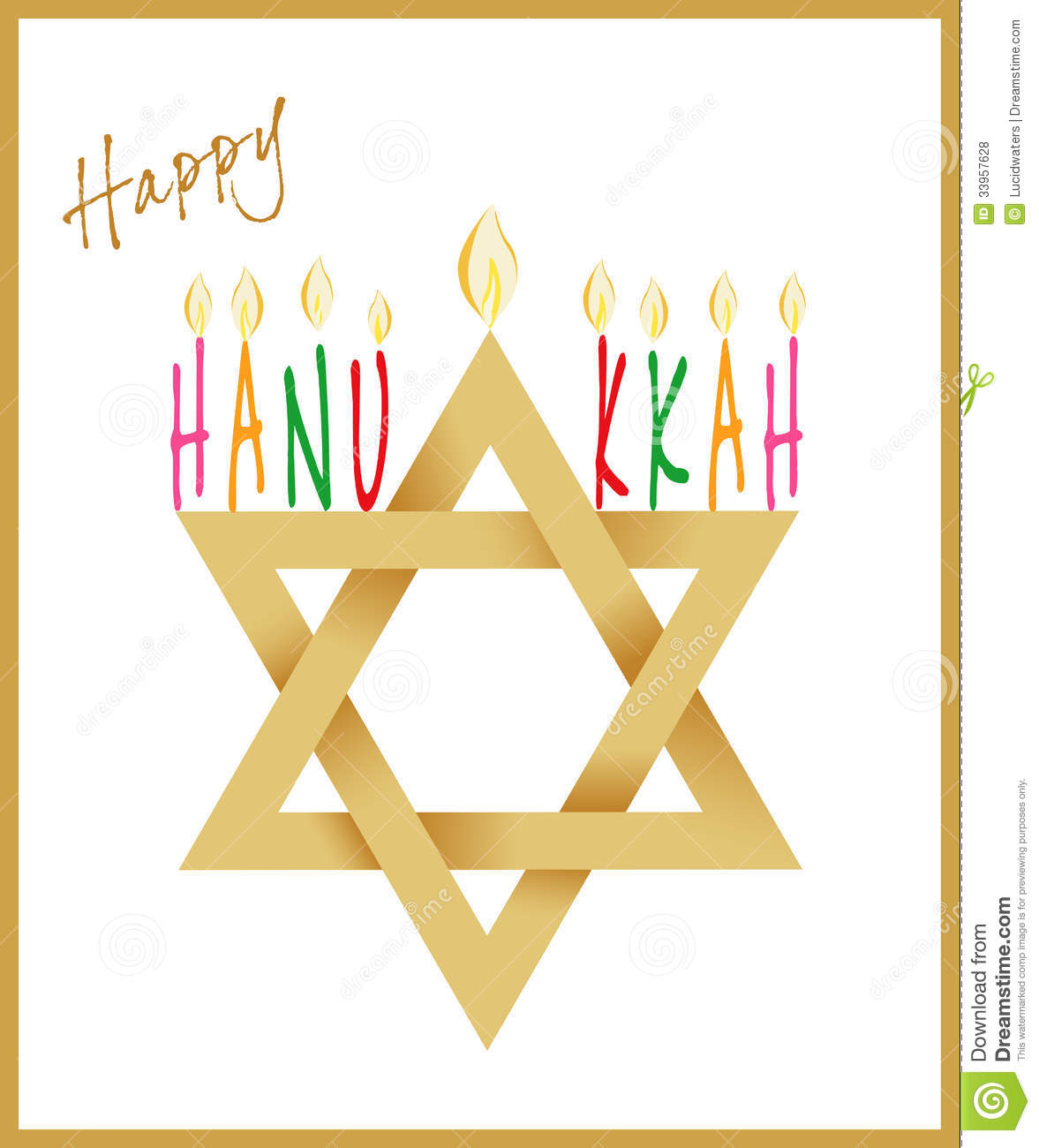 ... of David and Menorah or hanukkiya for the Jewish holiday of Hanukkah