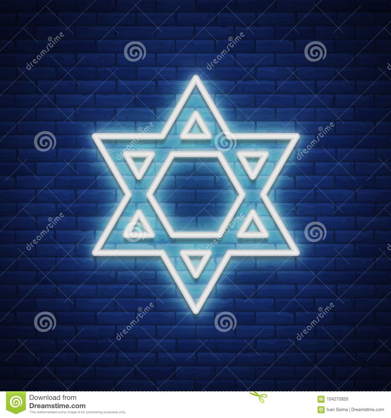 Star of david neon sign the symbol of judaism vector star of david neon sign the symbol of judaism vector illustration buycottarizona