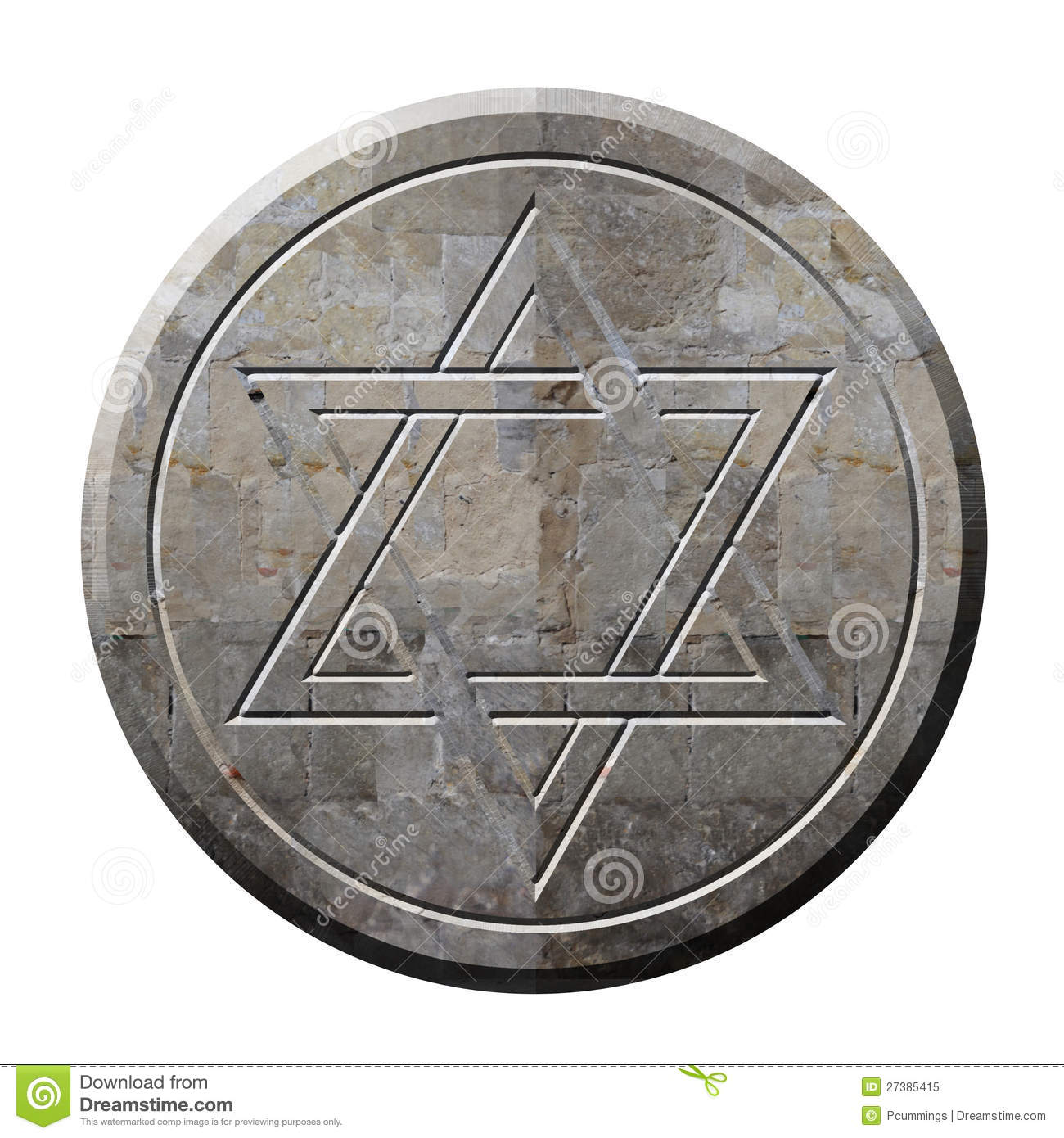 Star of david symbol in stone stock illustration illustration of star of david symbol in stone biocorpaavc Choice Image