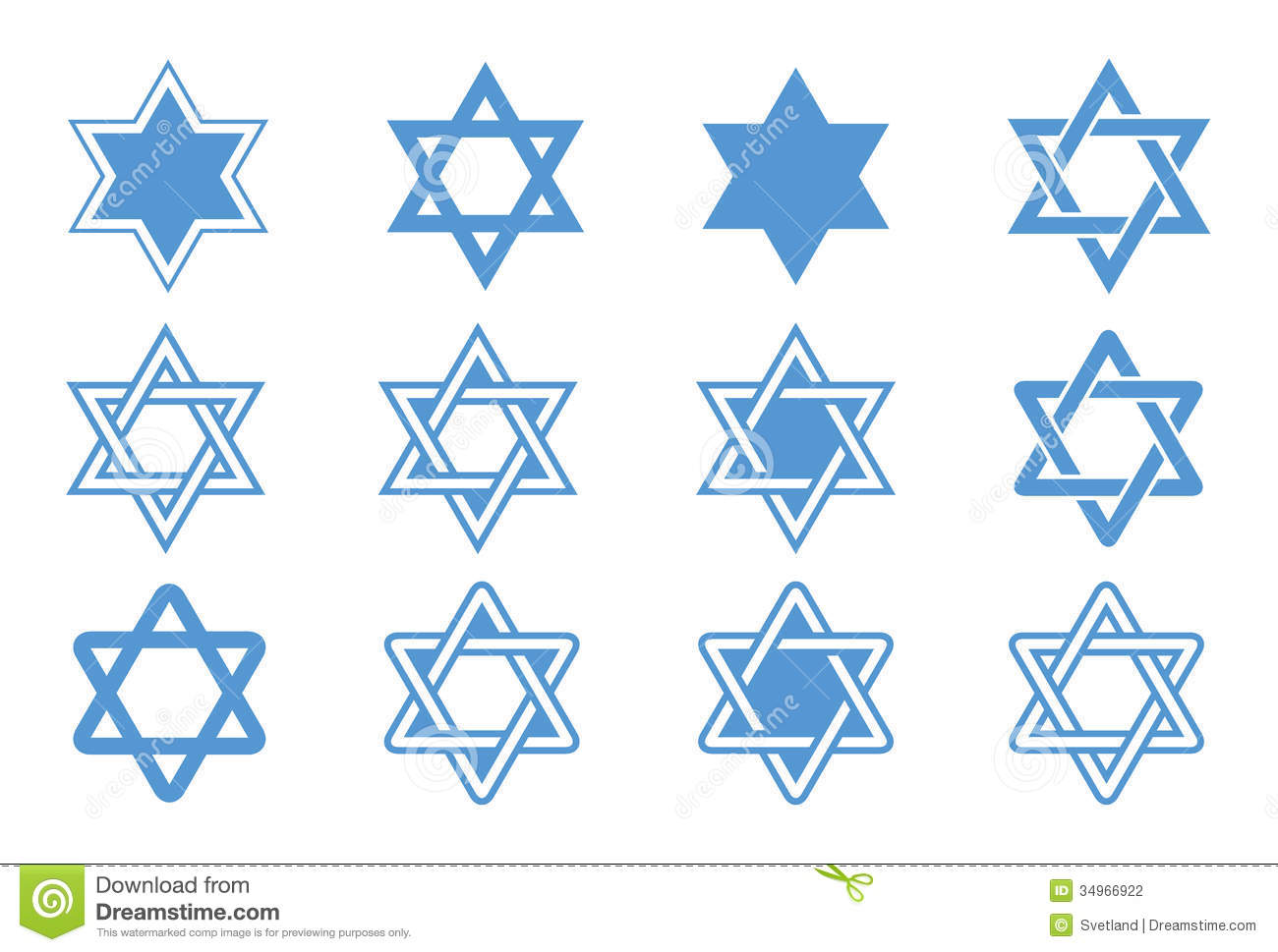 Star Of David Vector Illustration Stock Photography