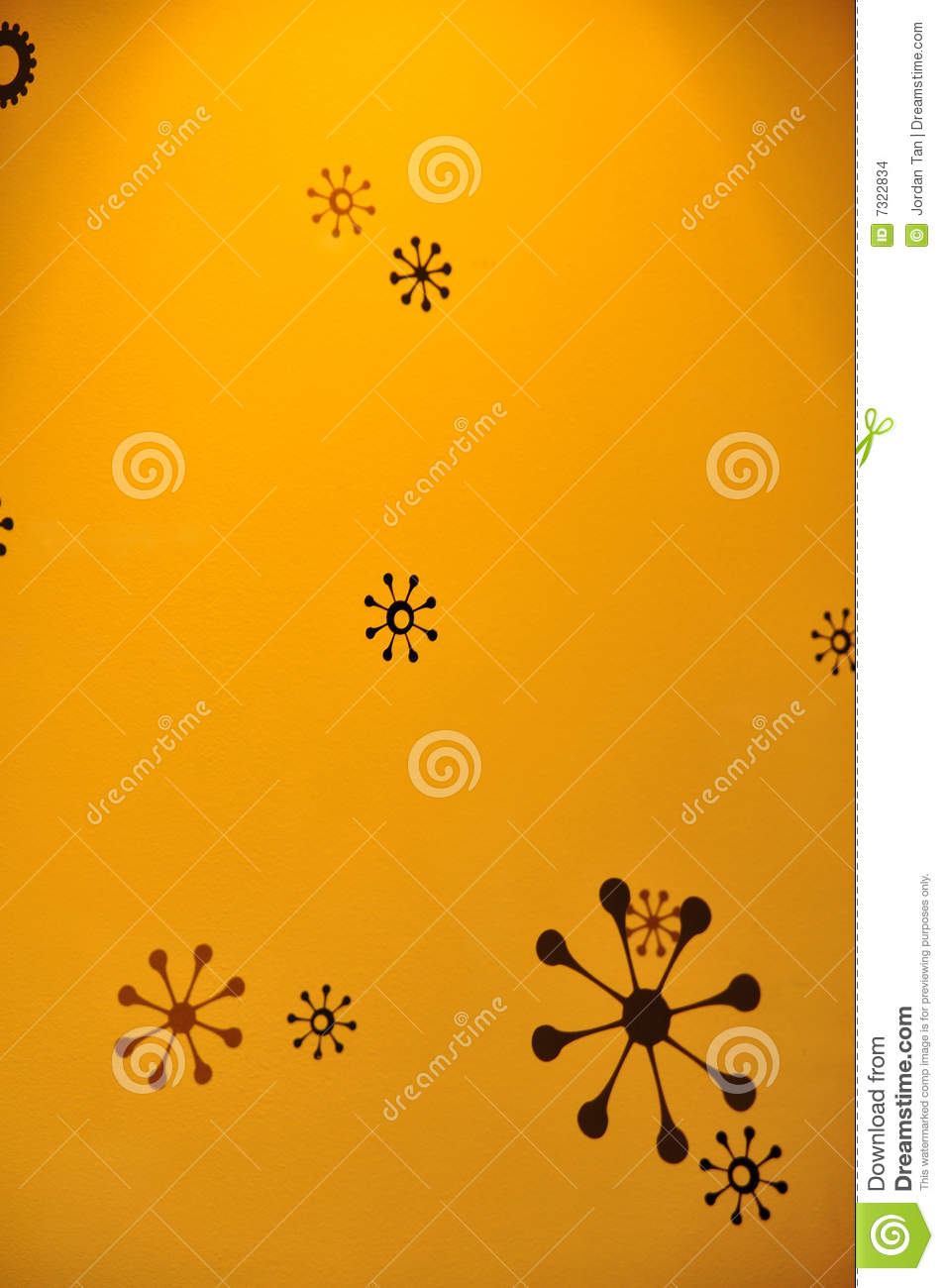 Star designs on yellow background
