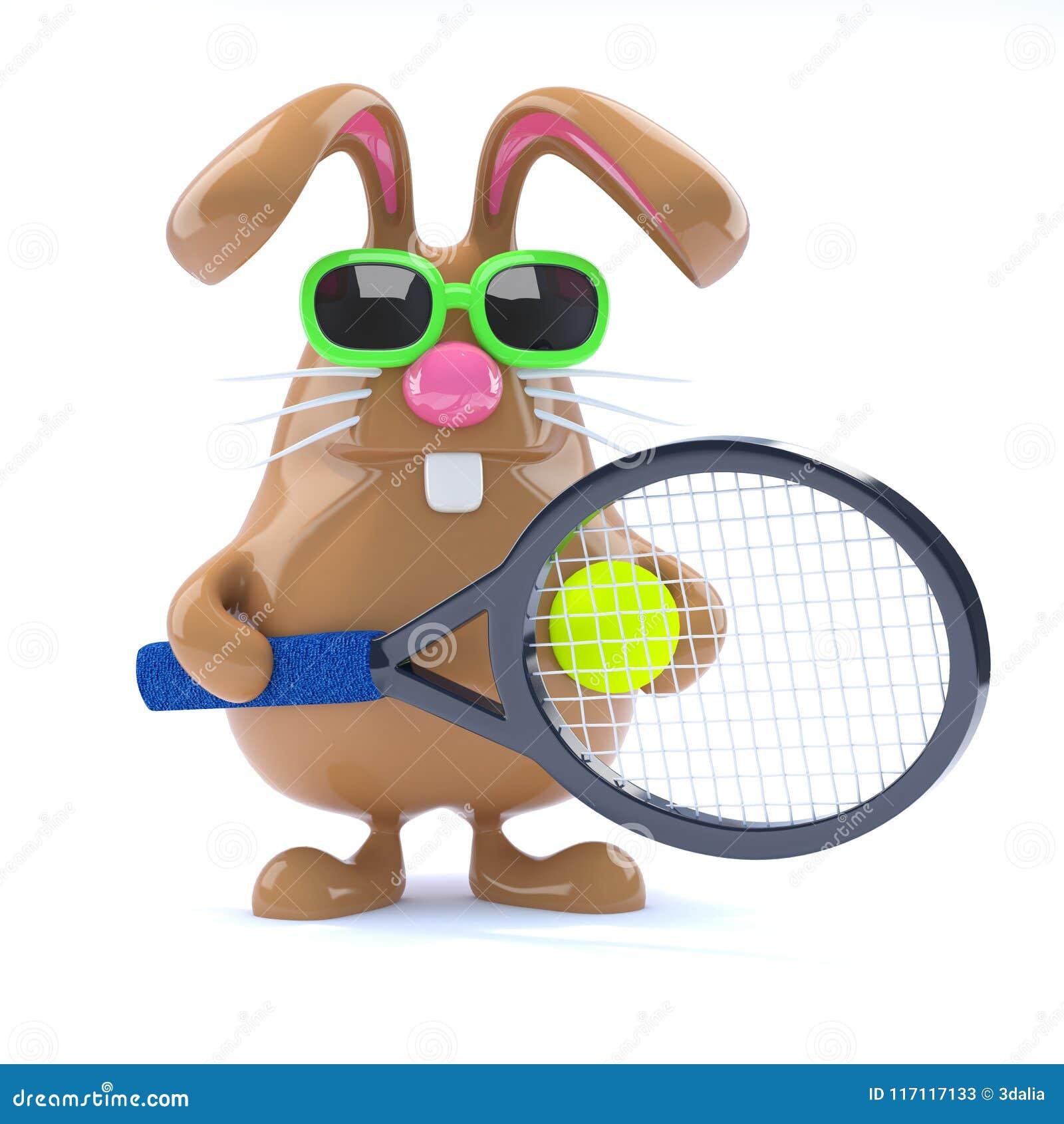 Star du tennis de lapin de 3d Pâques