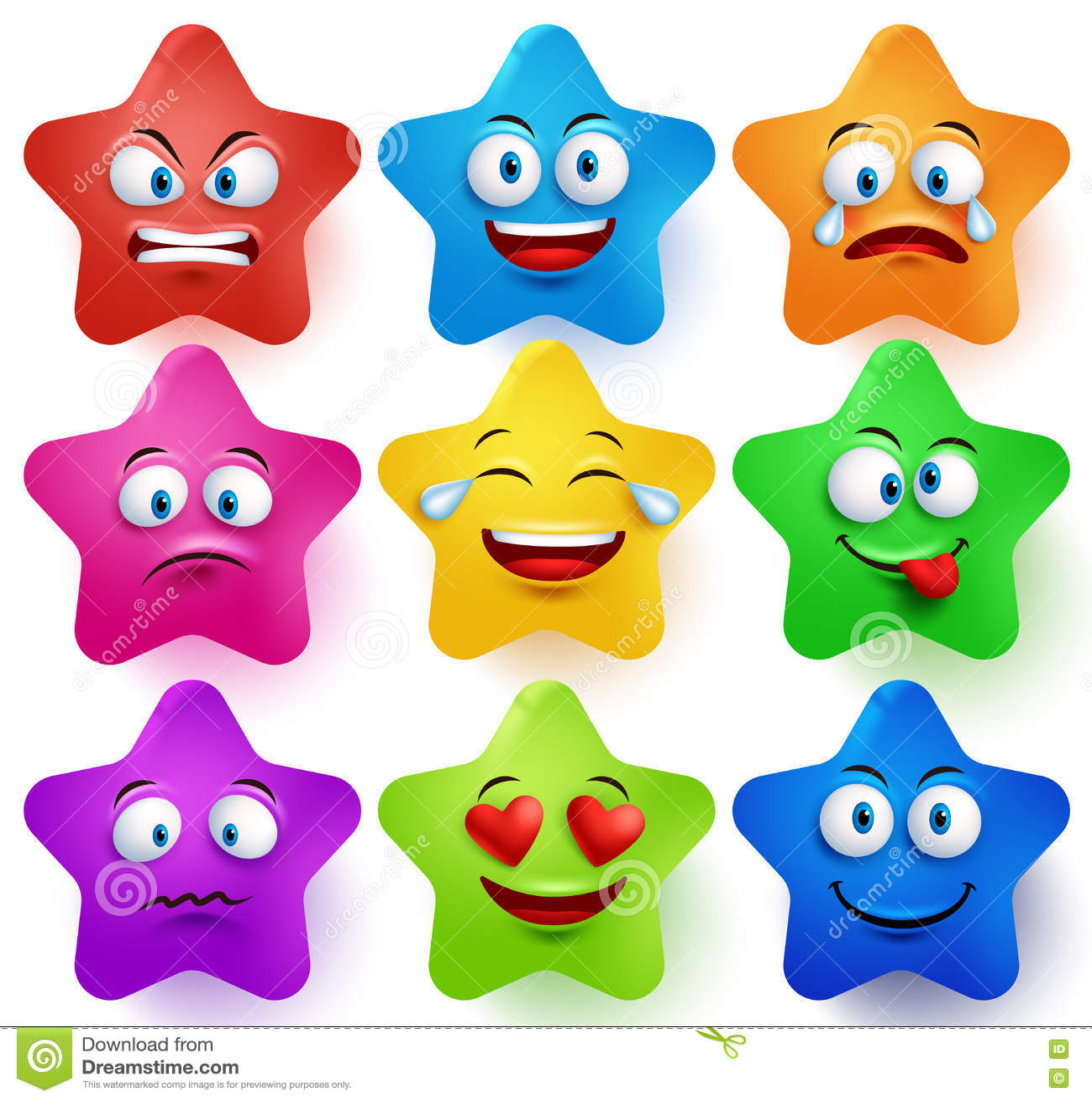 Star Faces Vector Set ...