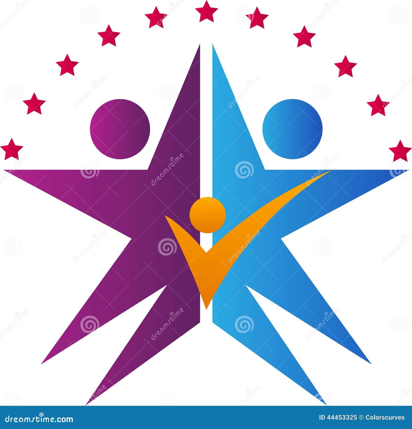 star family logo stock vector illustration of hope