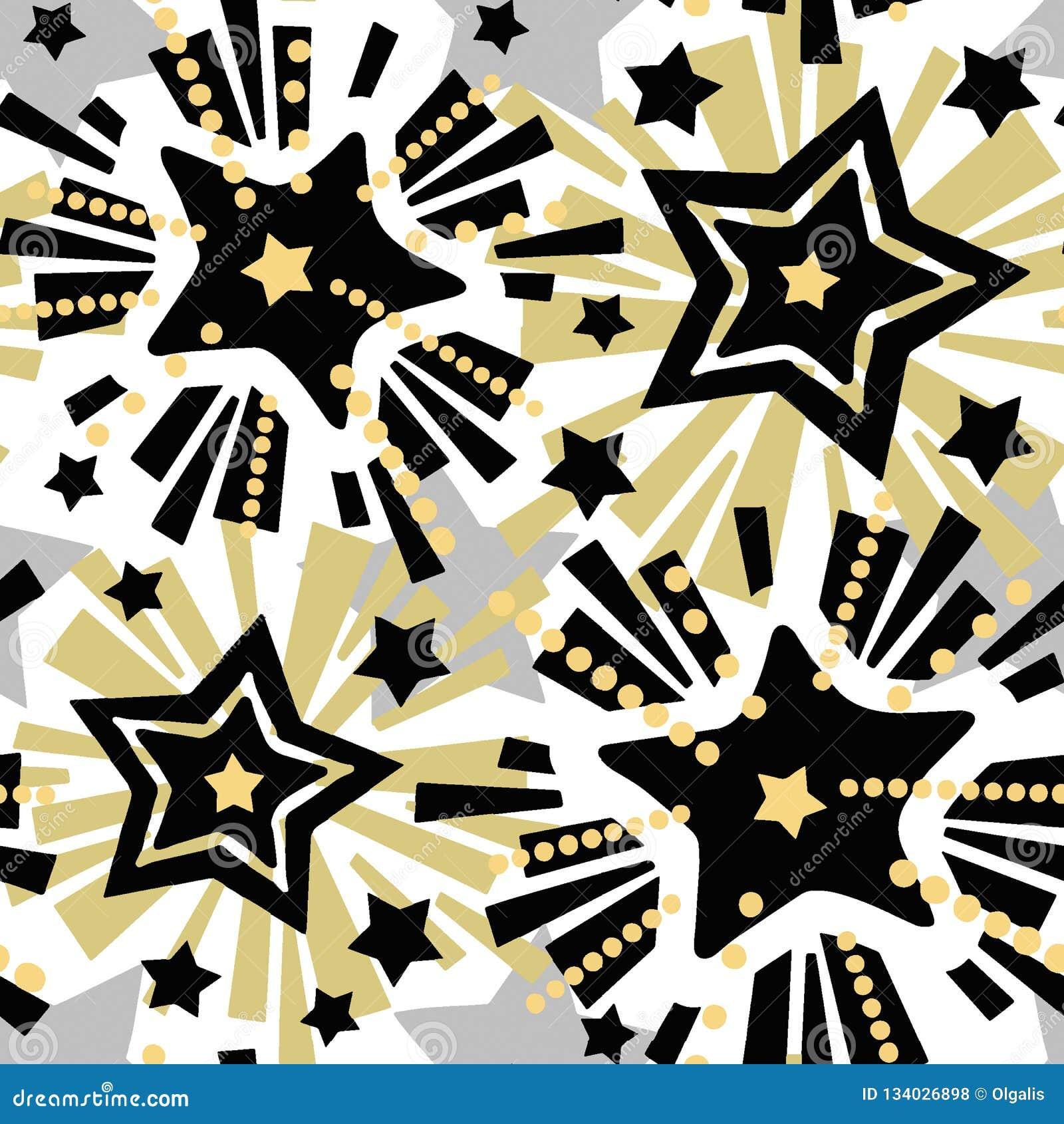 Star Festive Print Seamless Motif Christmas Hand Craft
