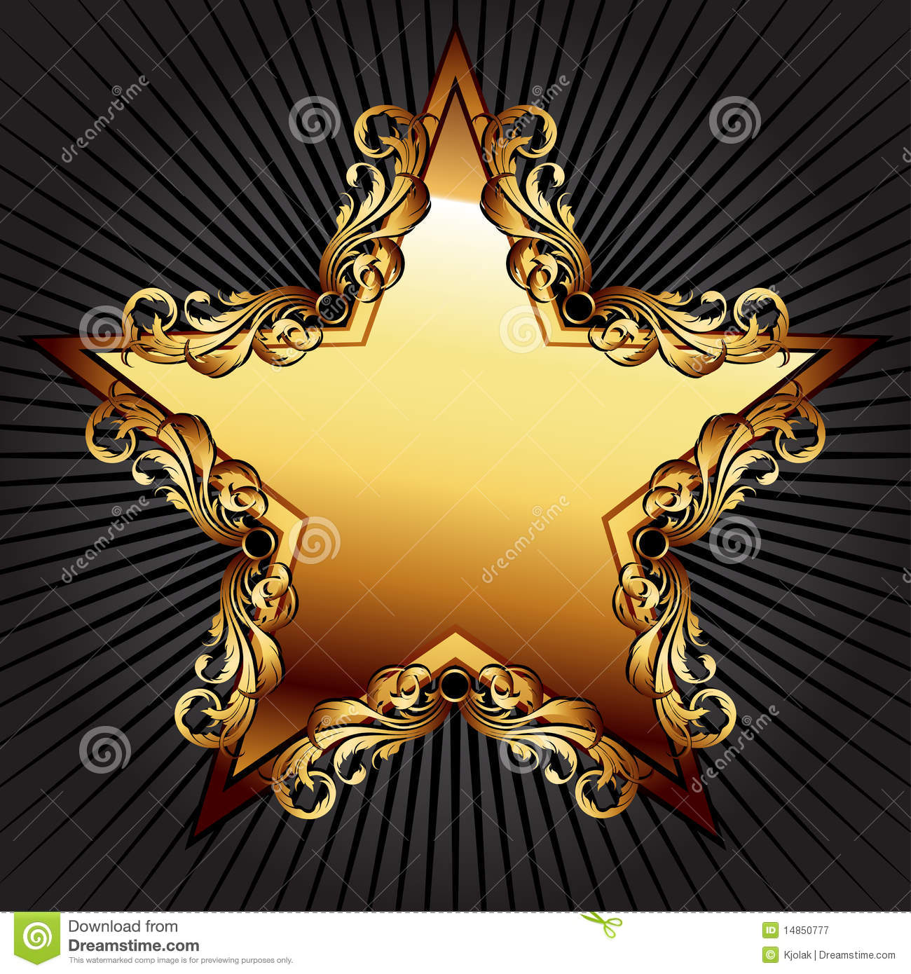 Star with floral elements