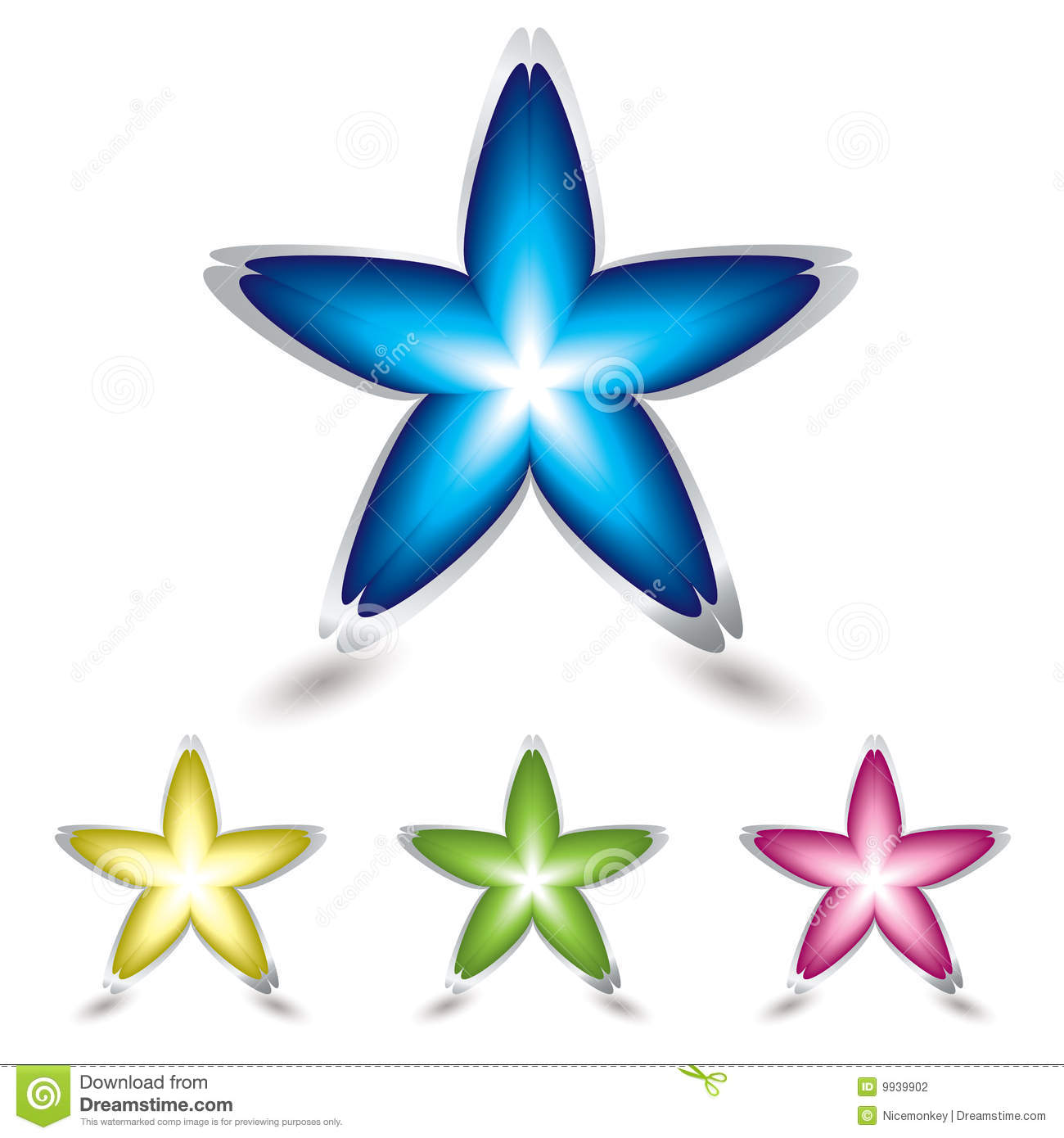 Star Flower Icon Stock graphy Image