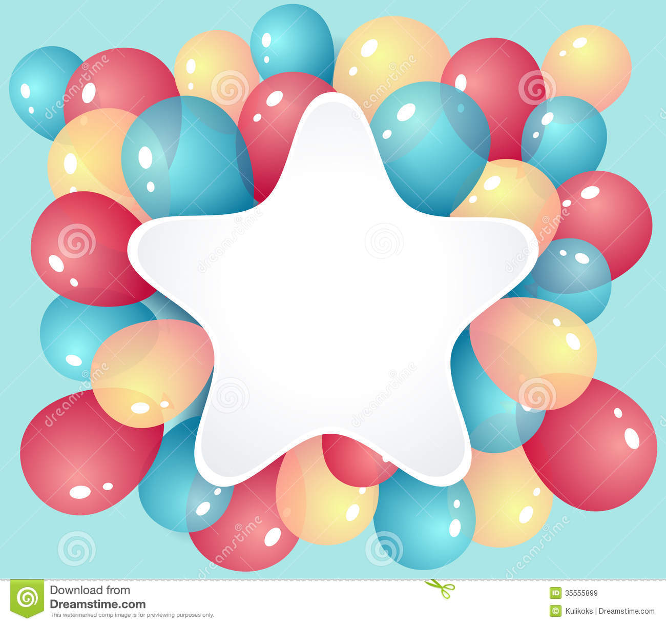 Star Frame With Balloons Royalty Free Stock Images Image