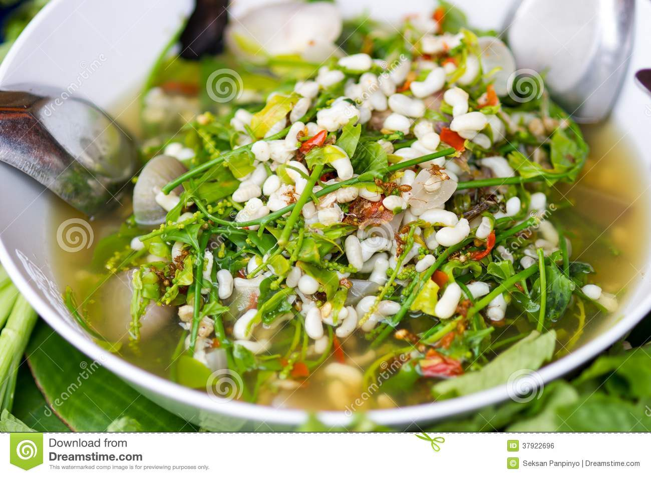 Star gooseberry and red ant eggs curry stock photo image for 7 star thai cuisine