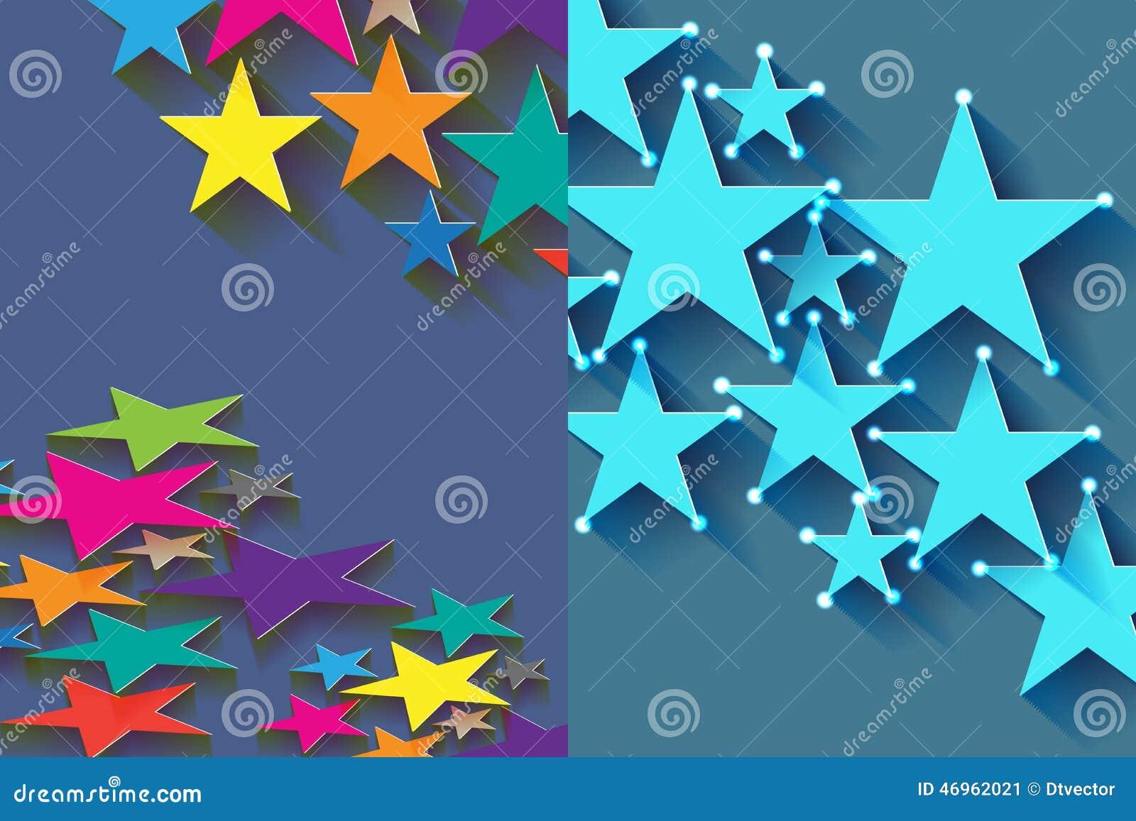 Star half stock vector image