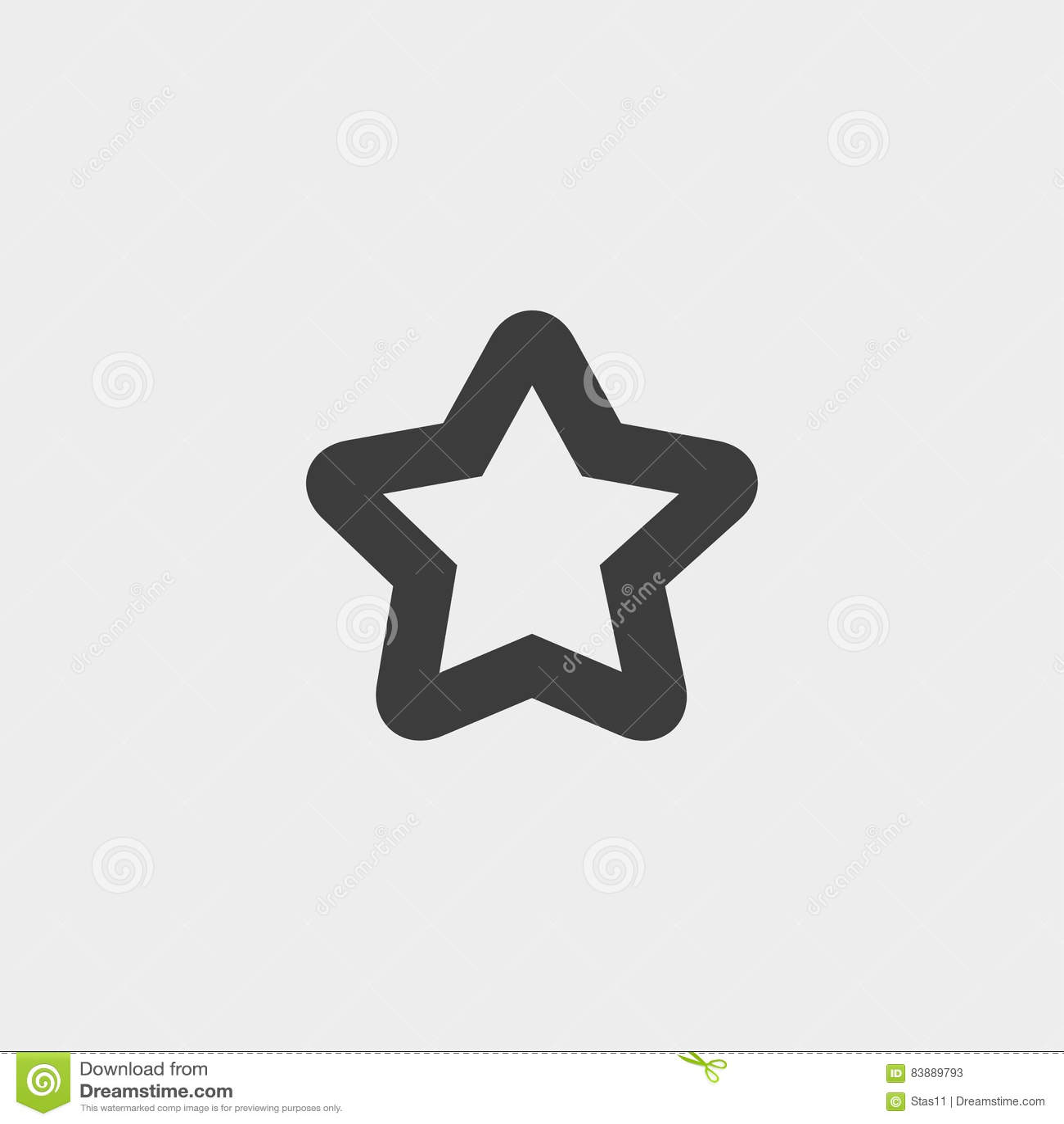 Star Icon In A Flat Design In Black Color  Vector