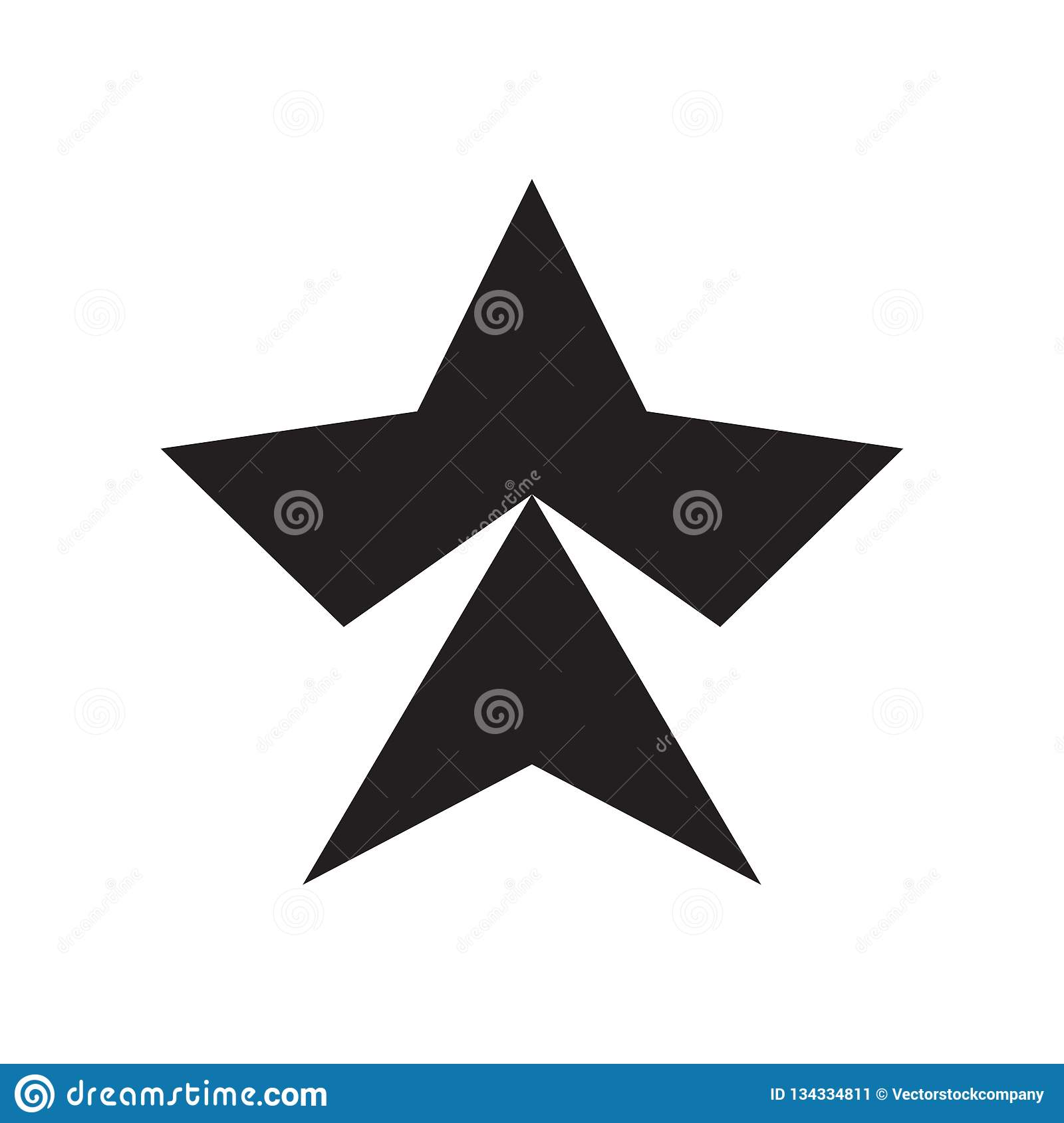 Star icon vector sign and symbol isolated on white background, Star logo concept