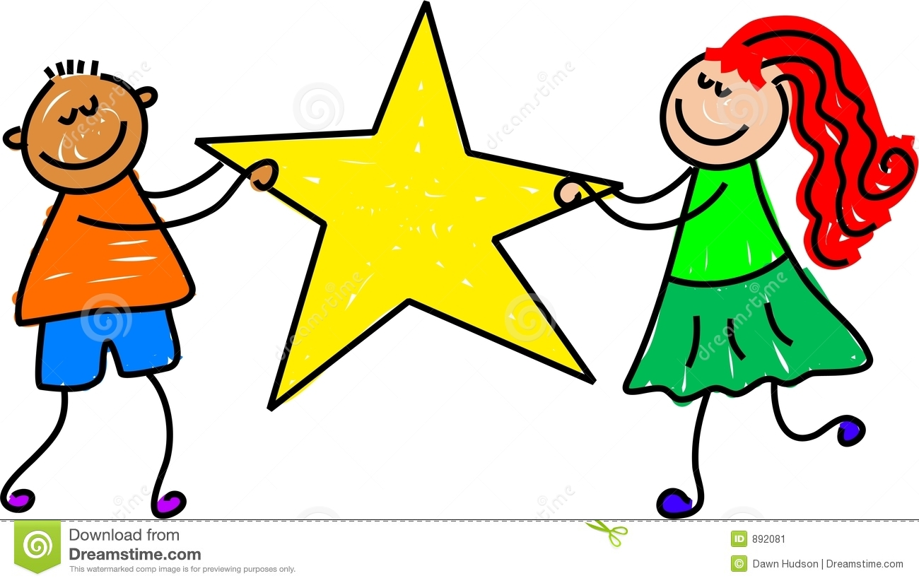 Star kids stock vector illustration of people holding for Images of stars for kids