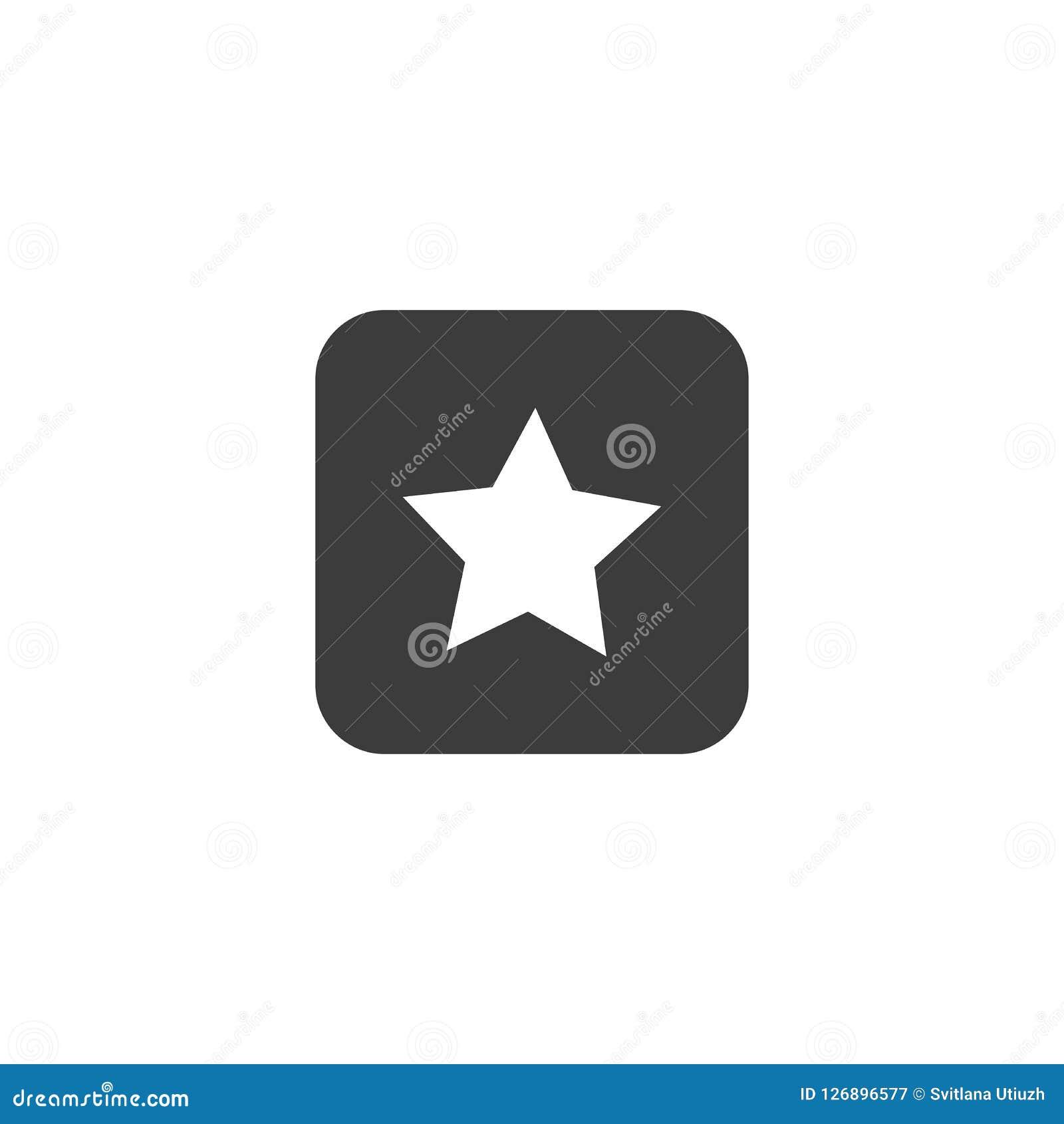 Star l icona, illustrazione di vettore isolata su fondo bianco
