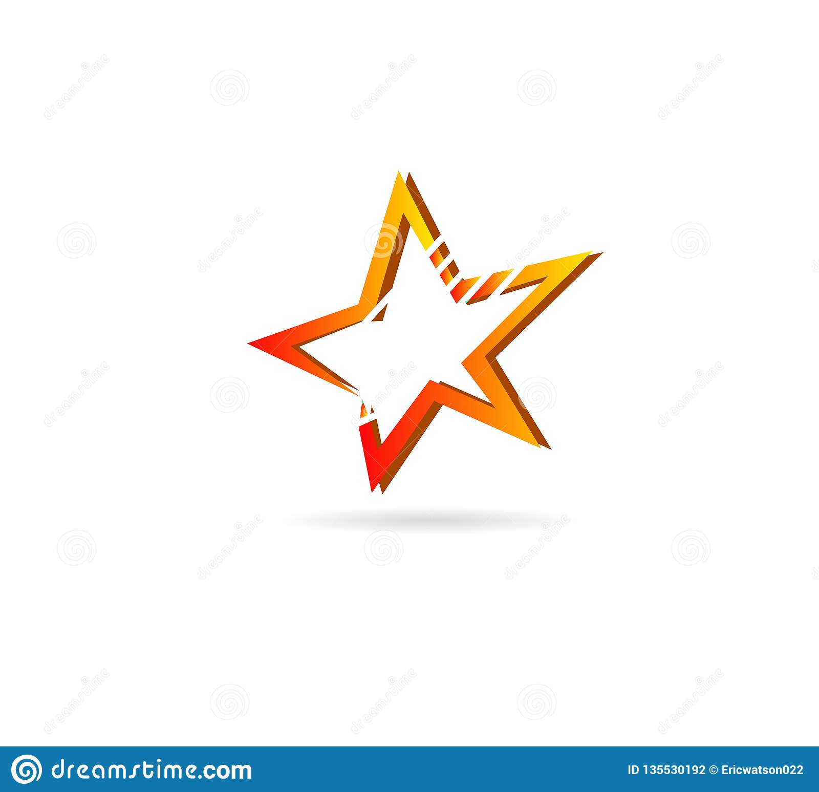 Star logo design stock. star icon