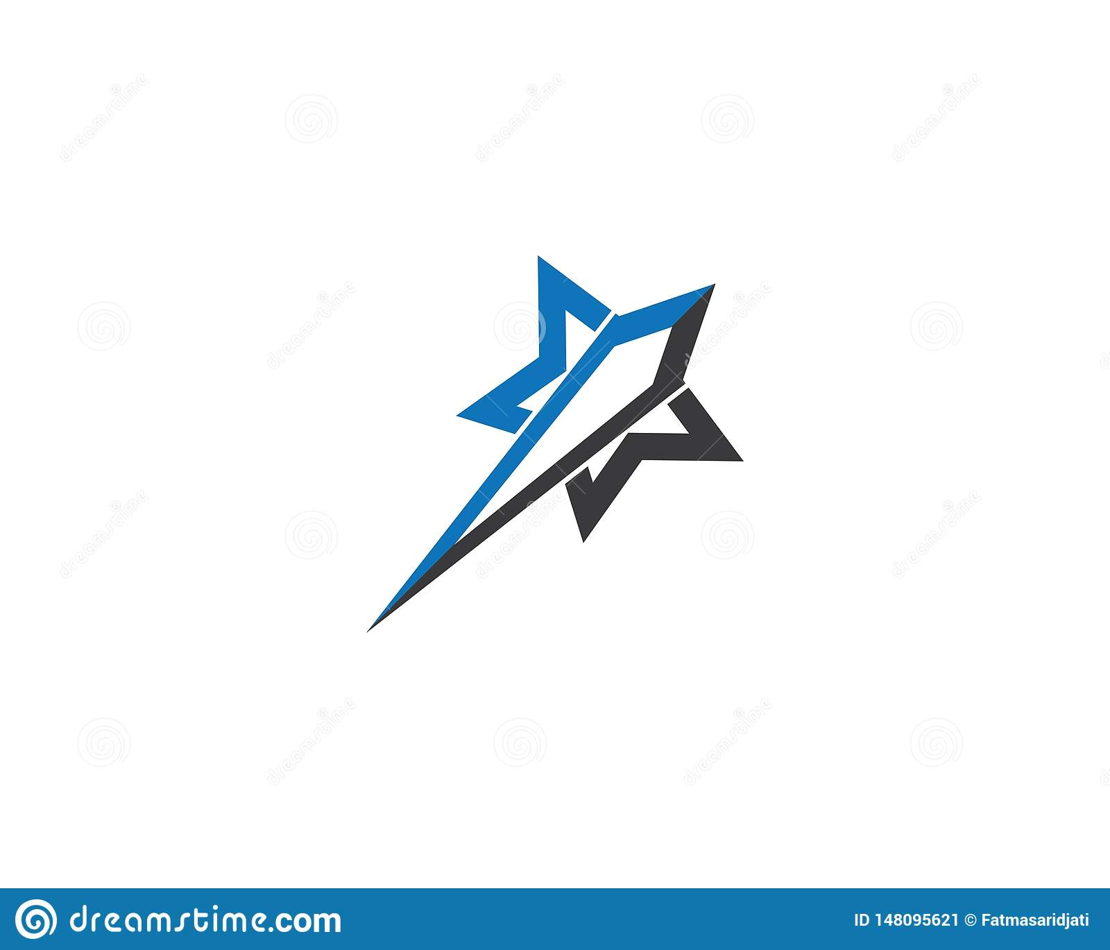 Star logo template illustration design