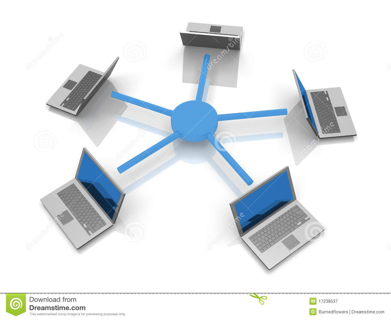 Star Network Topology With Laptops Royalty Free Stock Photography ...