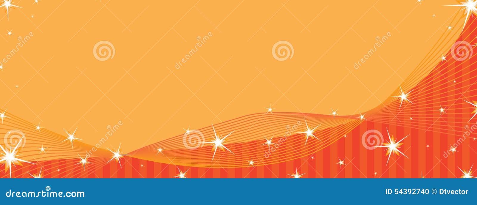 Star Orange Banner Space Stock Vector. Illustration Of