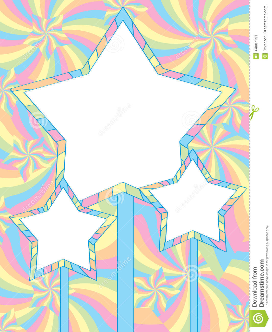 star pastel color card stock vector illustration of