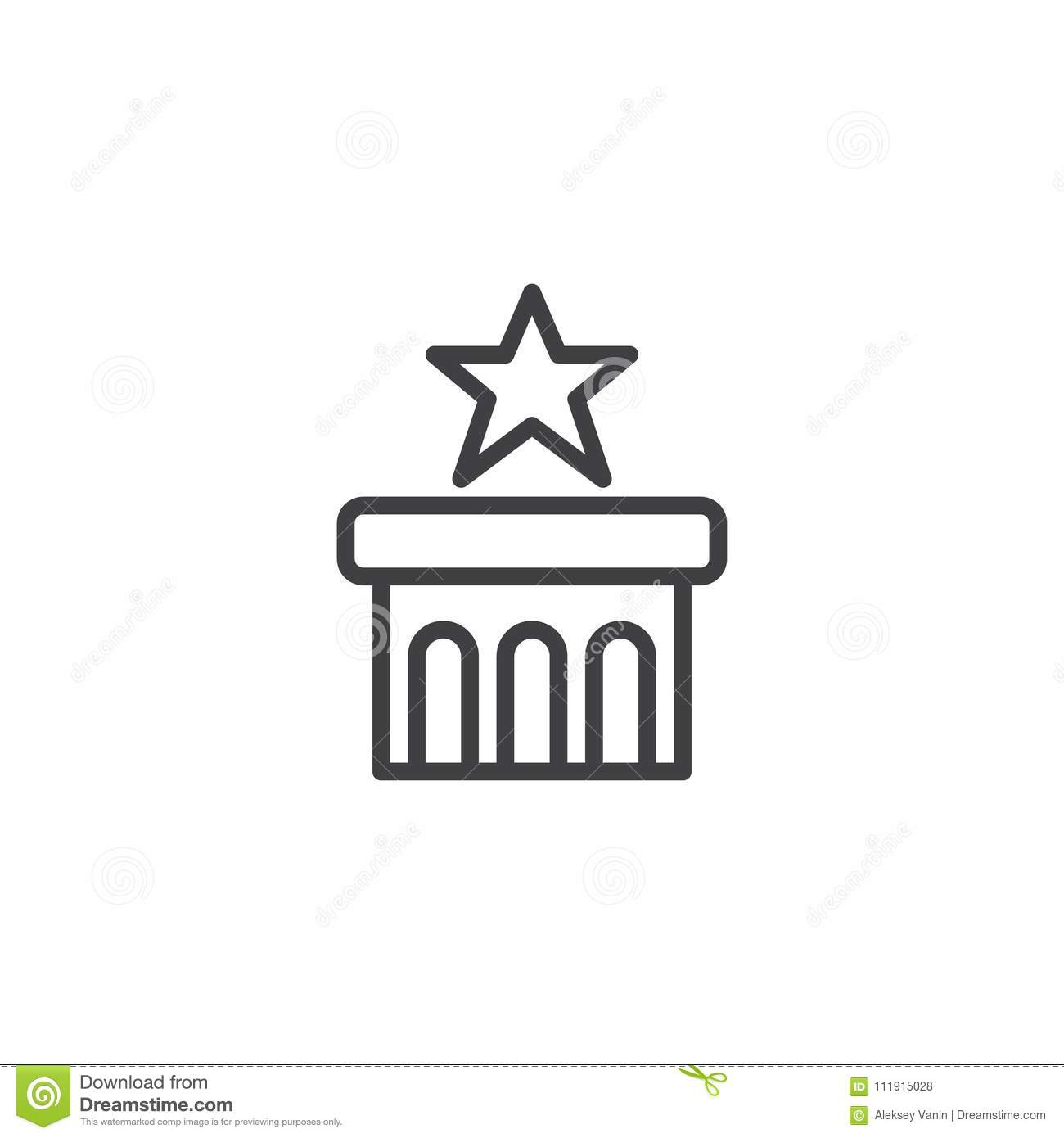Star on podium outline icon stock vector illustration of perfect star on podium outline icon sciox Gallery