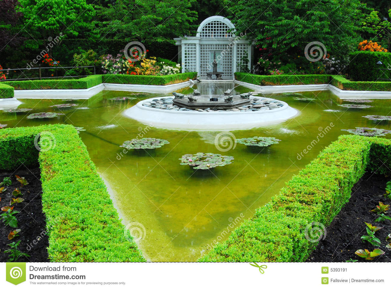 star pond in butchart gardens stock image image 5393191