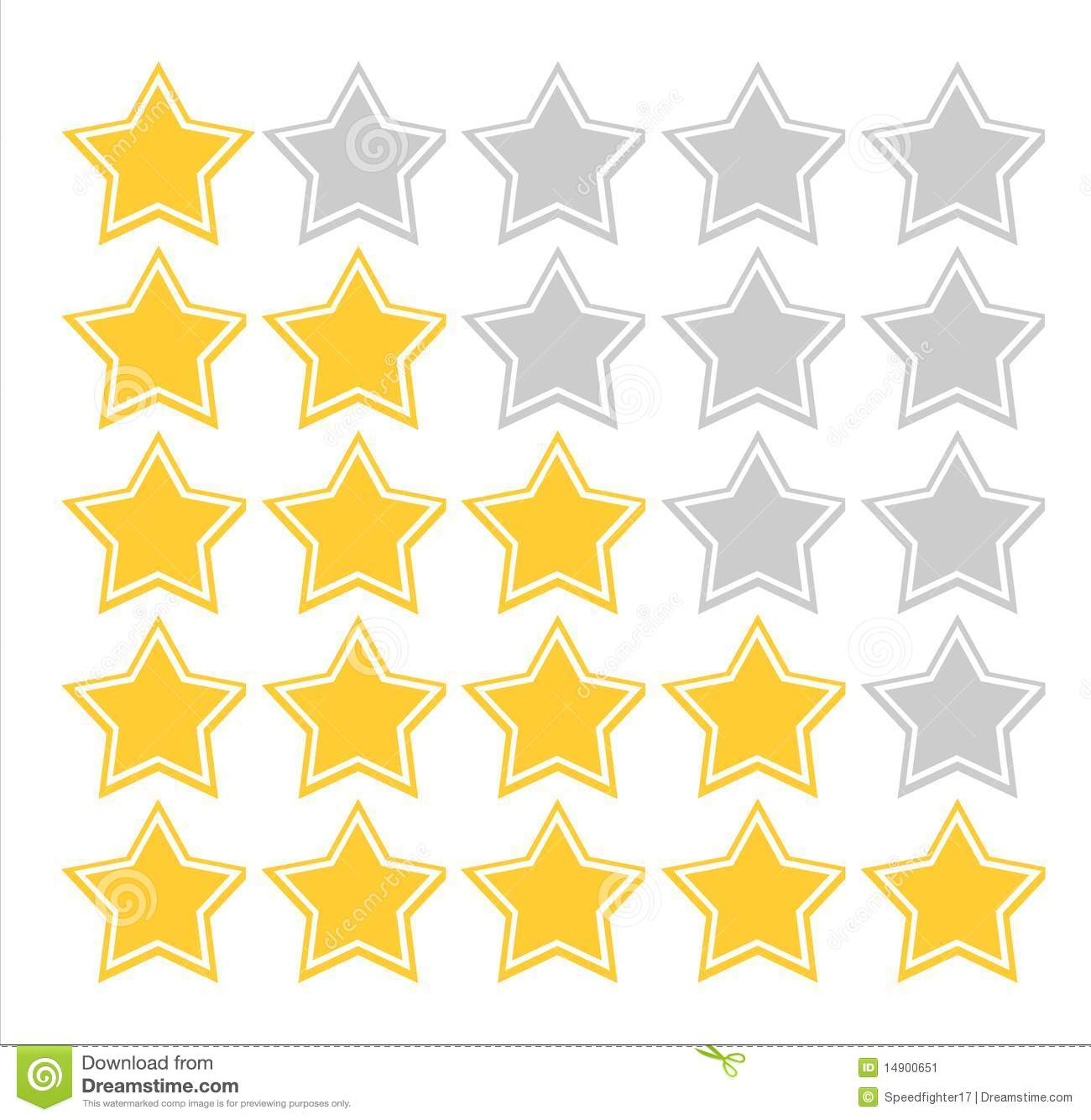 Star Quality Rating Stock Illustration. Illustration Of