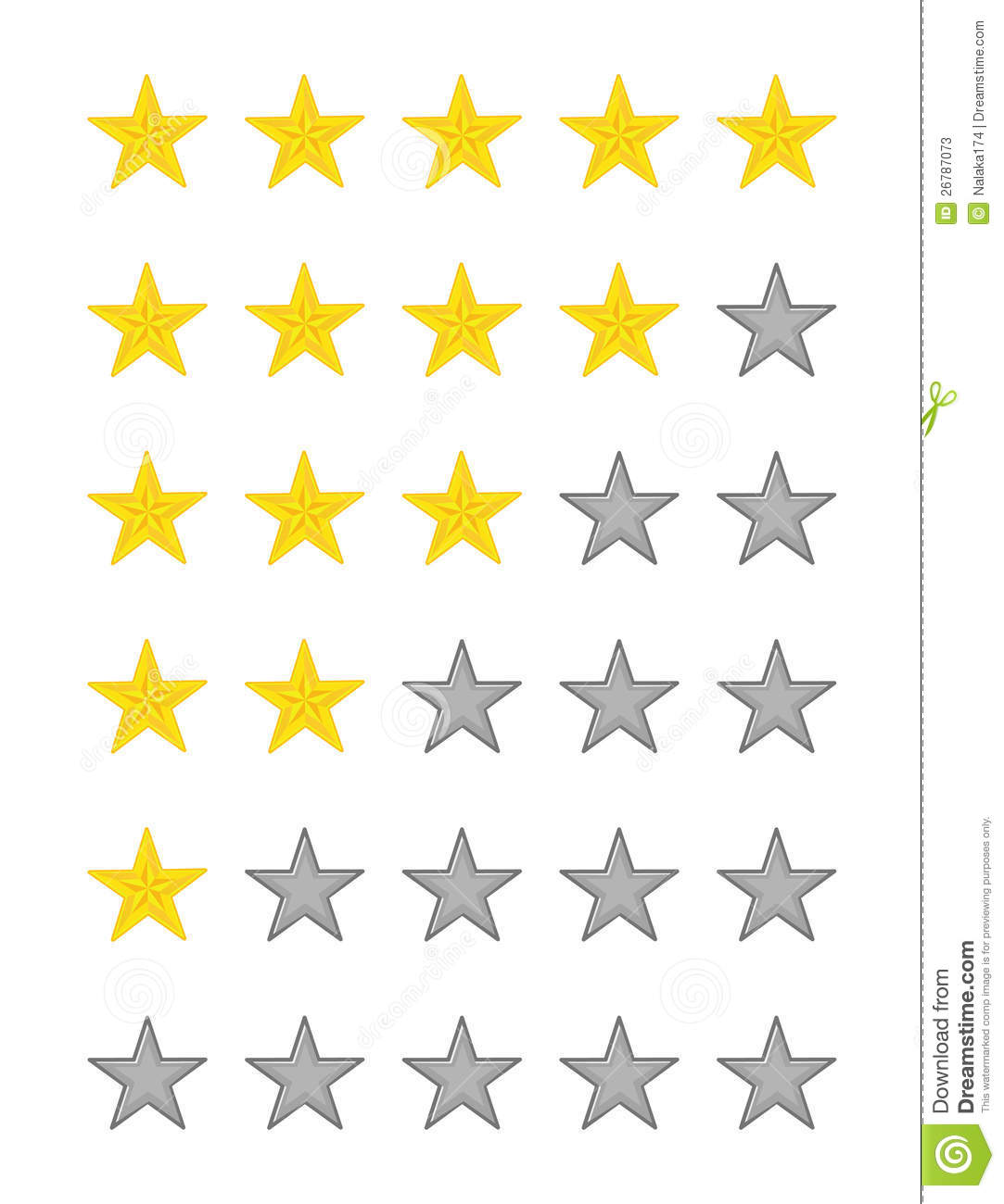 Star Quality Rating Stock Vector. Illustration Of Goal