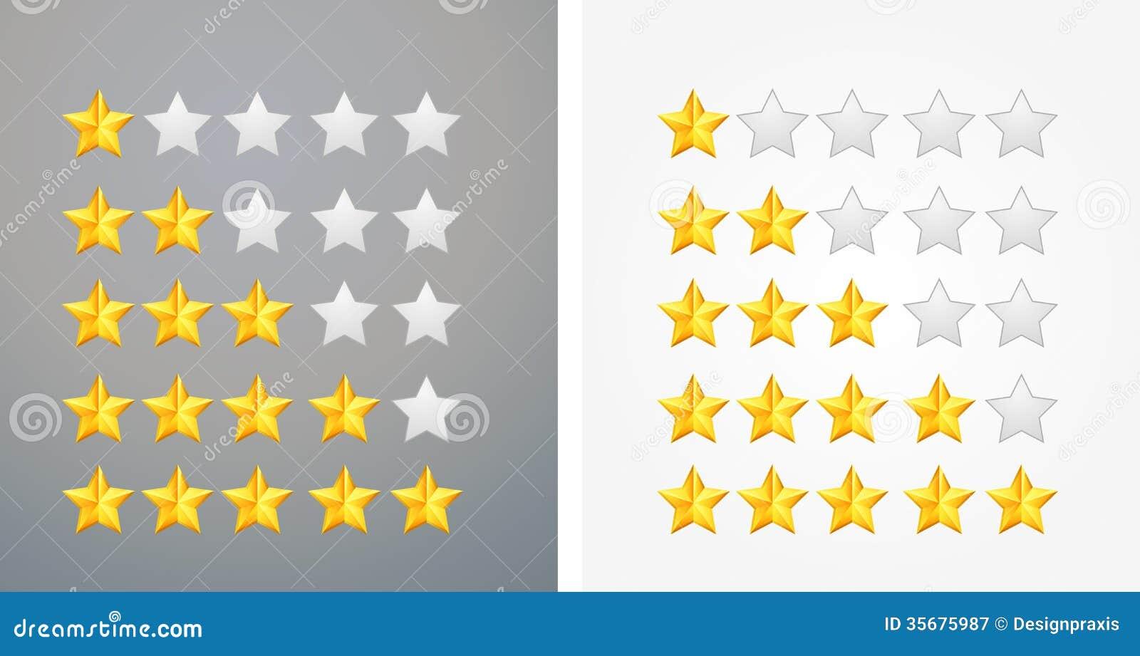 star rating icon - illustration stock vector