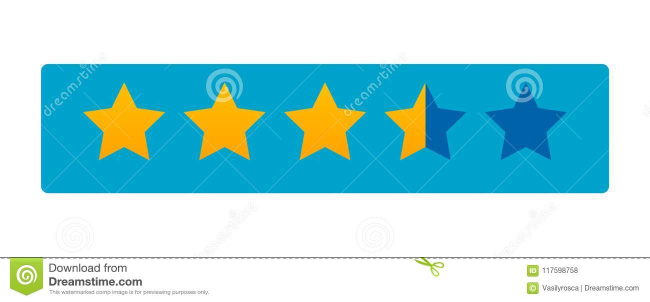5 Star Rating Icon Vector Rate Vote Like Ranking Symbol Stock