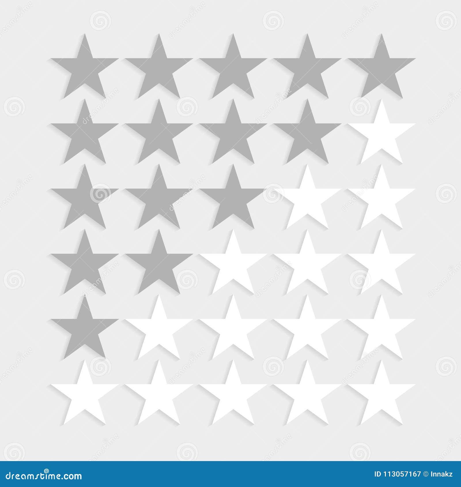 Star rating symbols.