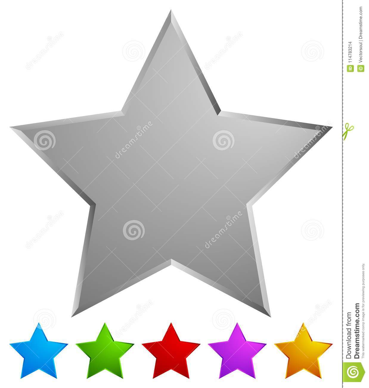 Star Rating System Icon / Colorful Star Design Element For