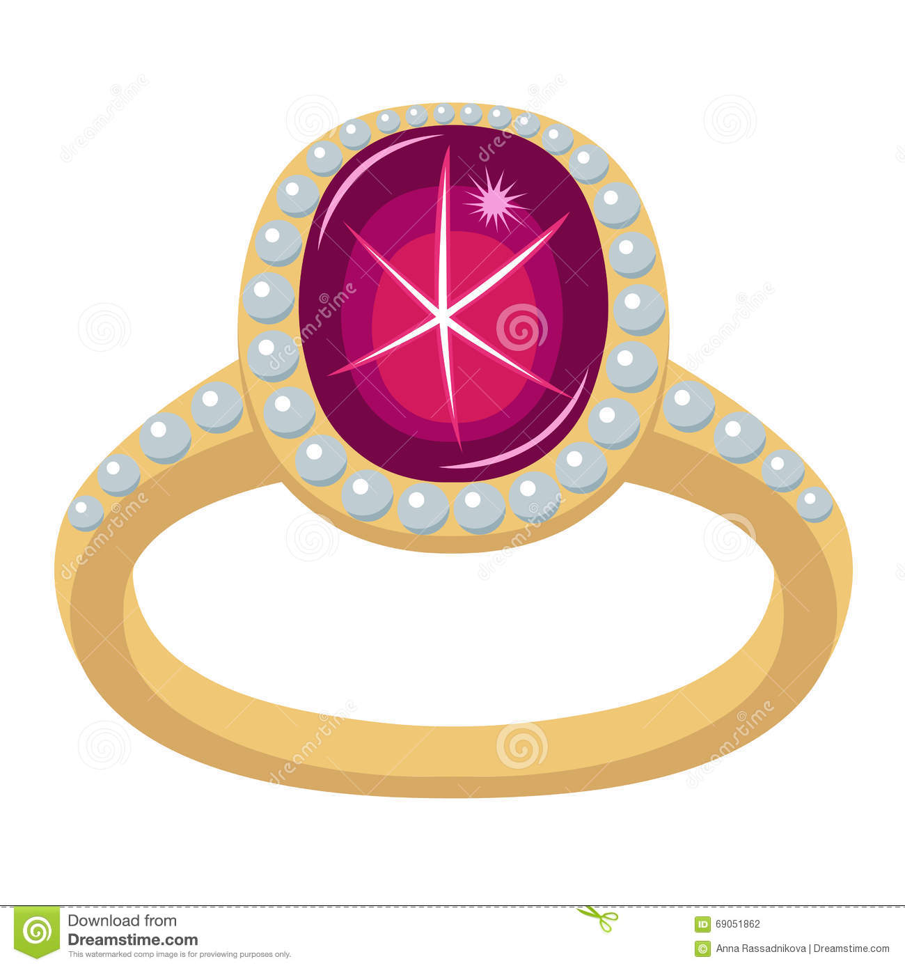 Star ruby golden ring