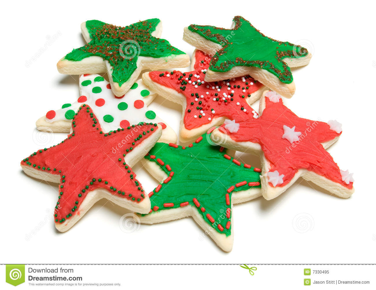 Star Shaped Cookies Royalty Free Stock Photo - Image: 7330495