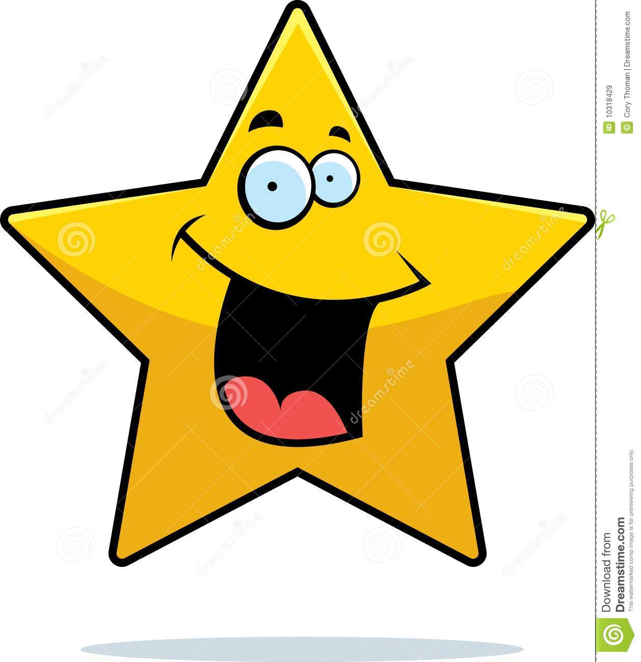 Star Smiling Royalty Free Stock Images - Image: 10318429