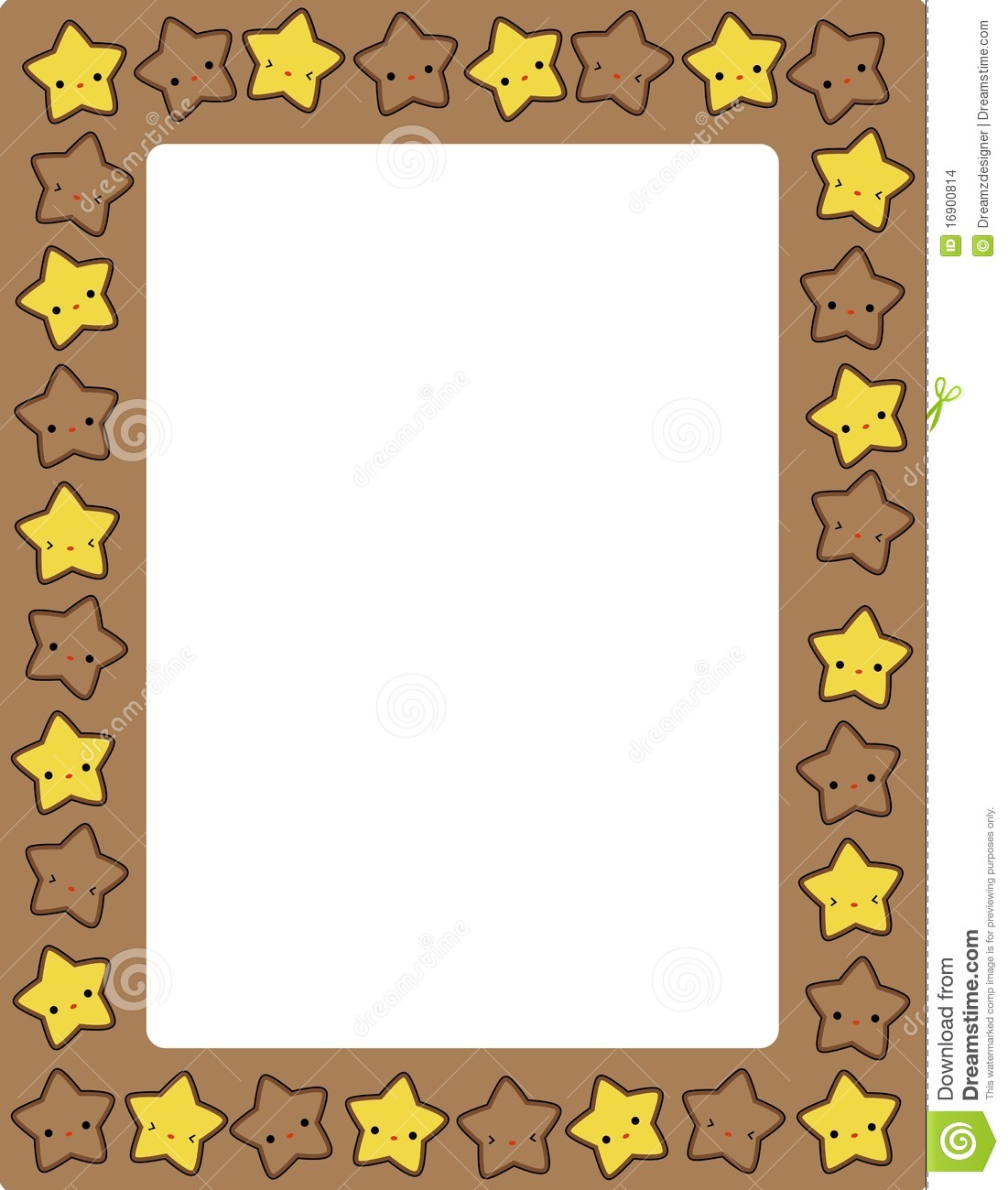 Star / stars border stock vector. Image of birth, card ...