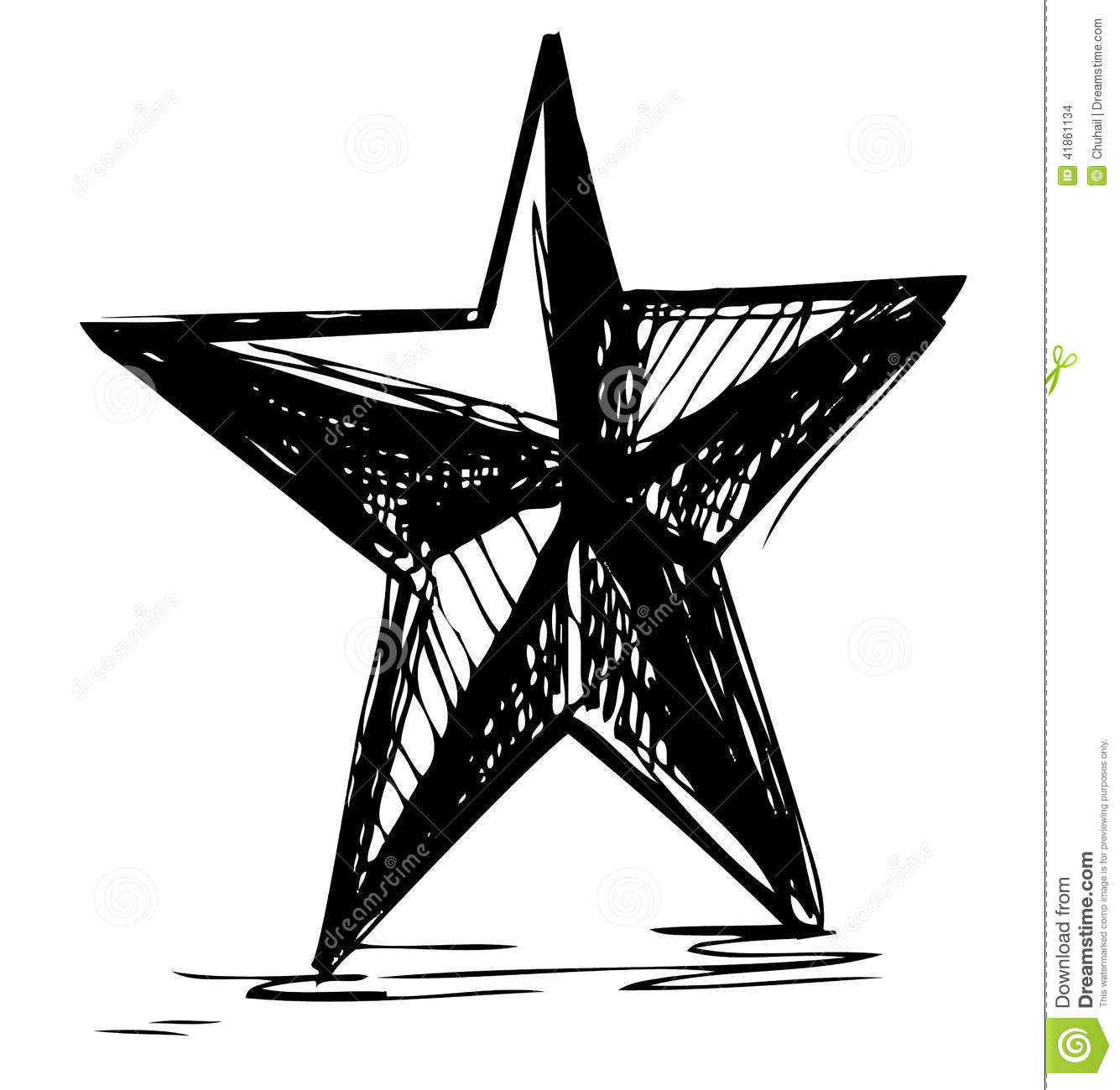 Star Symbol In Doodle Style Stock Vector Illustration Of Doodle