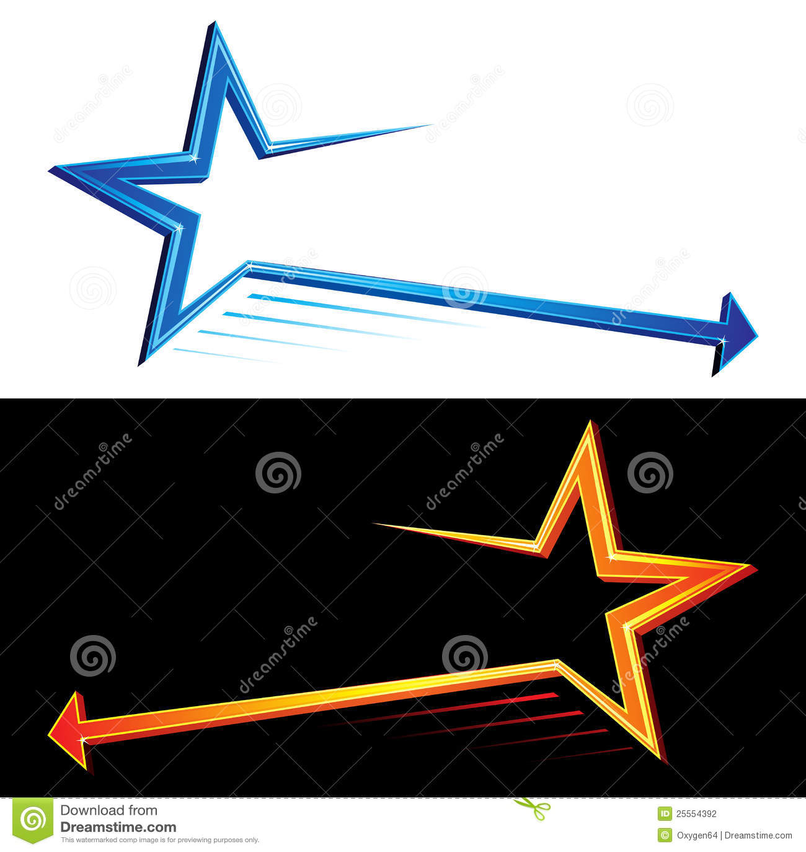 Star Symbols Stock Vector Illustration Of Blue Rays 25554392