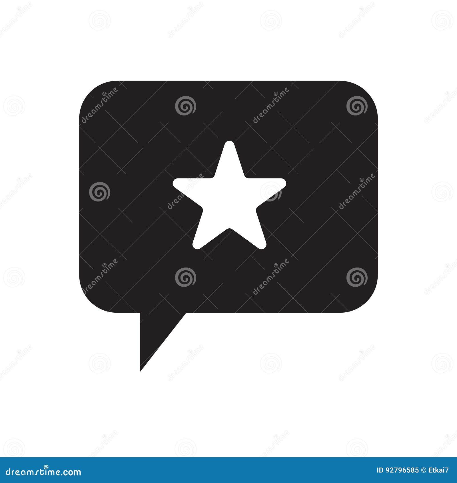 Star and talking balloon icon vector illustration design