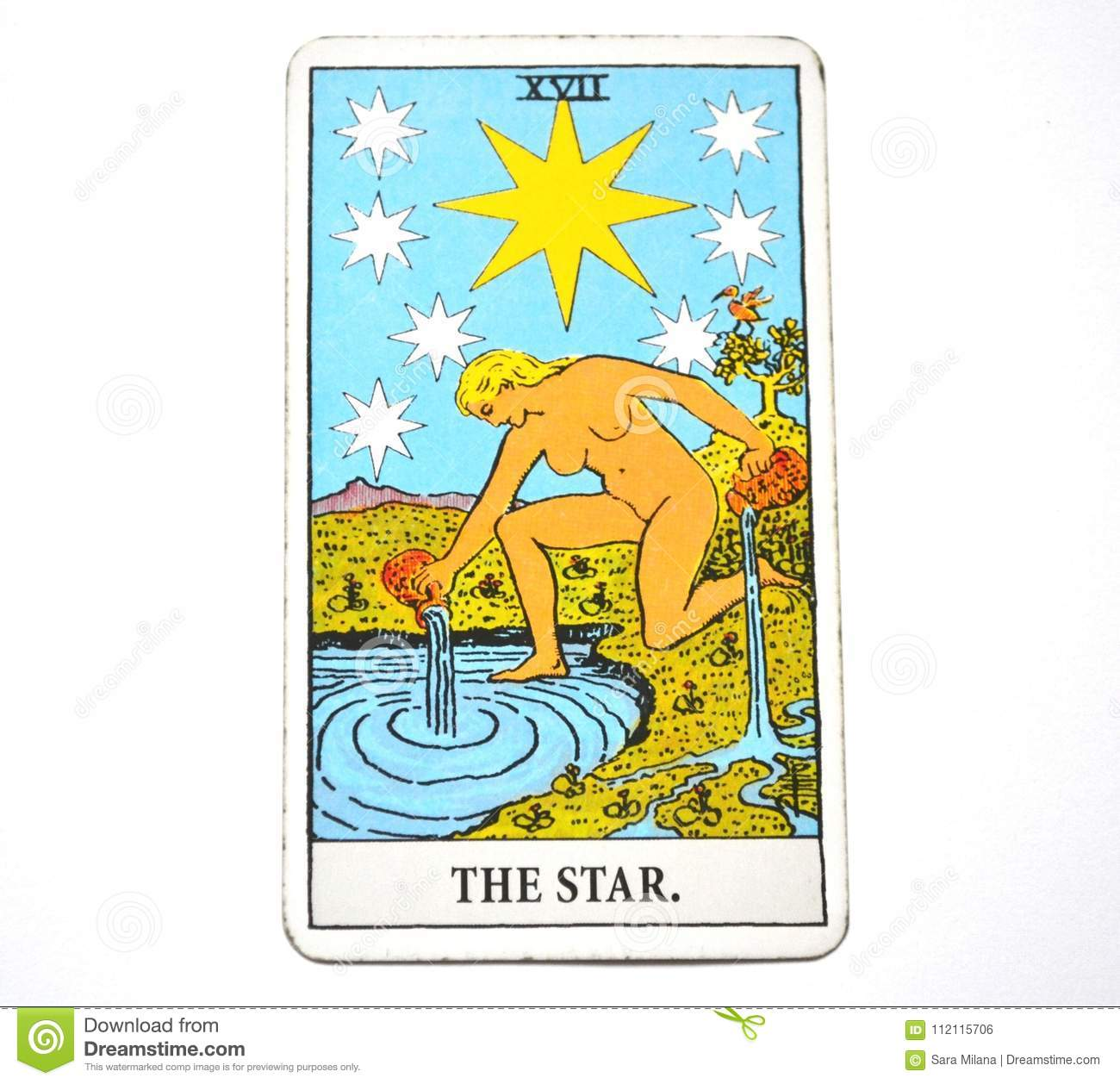 The Star Tarot Card Hope, happiness, opportunities, optimism, renewal, spirituality