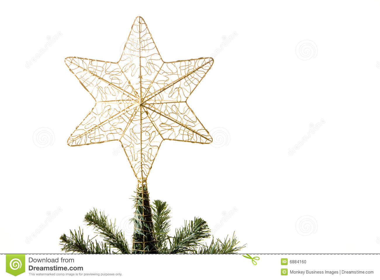 star on top of christmas tree