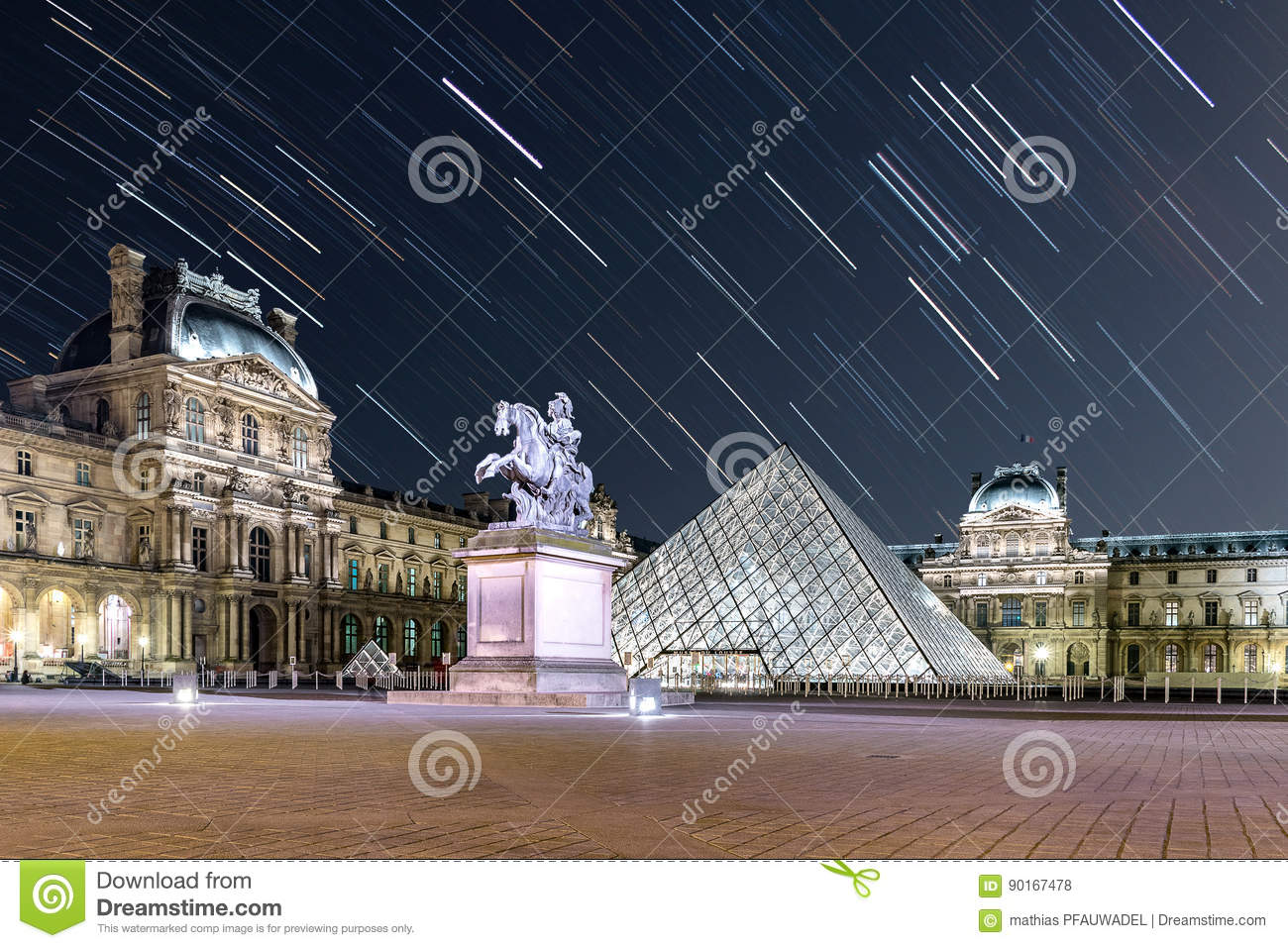 Star Trail at The Louvre