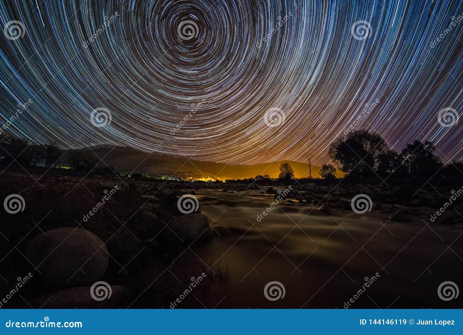 Star Trail over Gredos